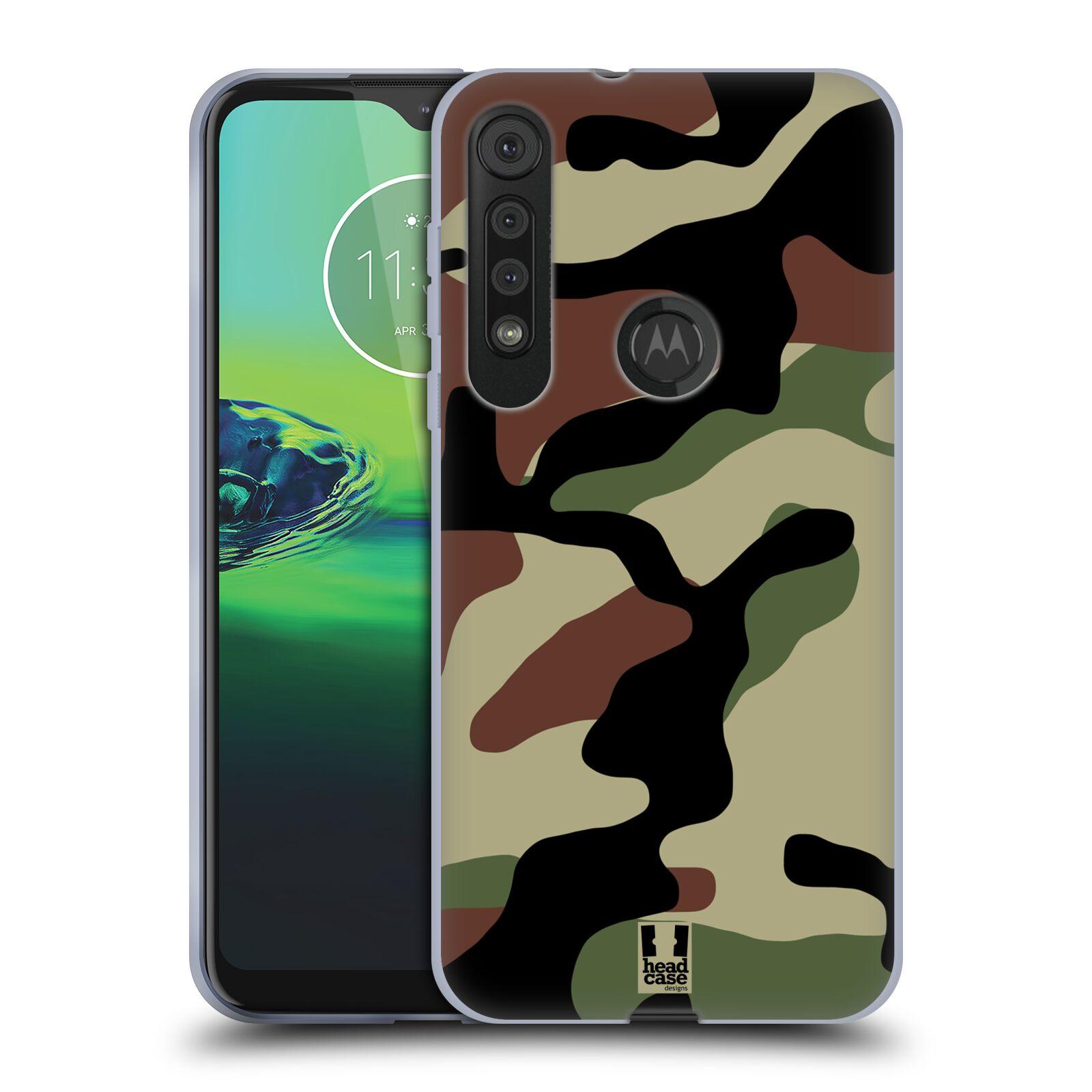 Silikonové pouzdro na mobil Motorola One Macro - Head Case - Maskáče