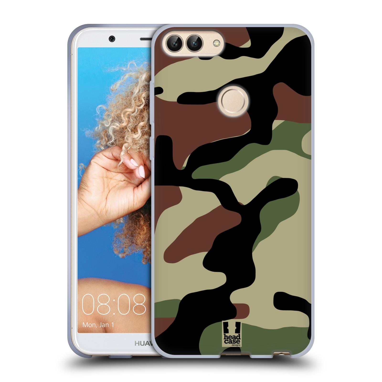 Silikonové pouzdro na mobil Huawei P Smart - Head Case - Maskáče