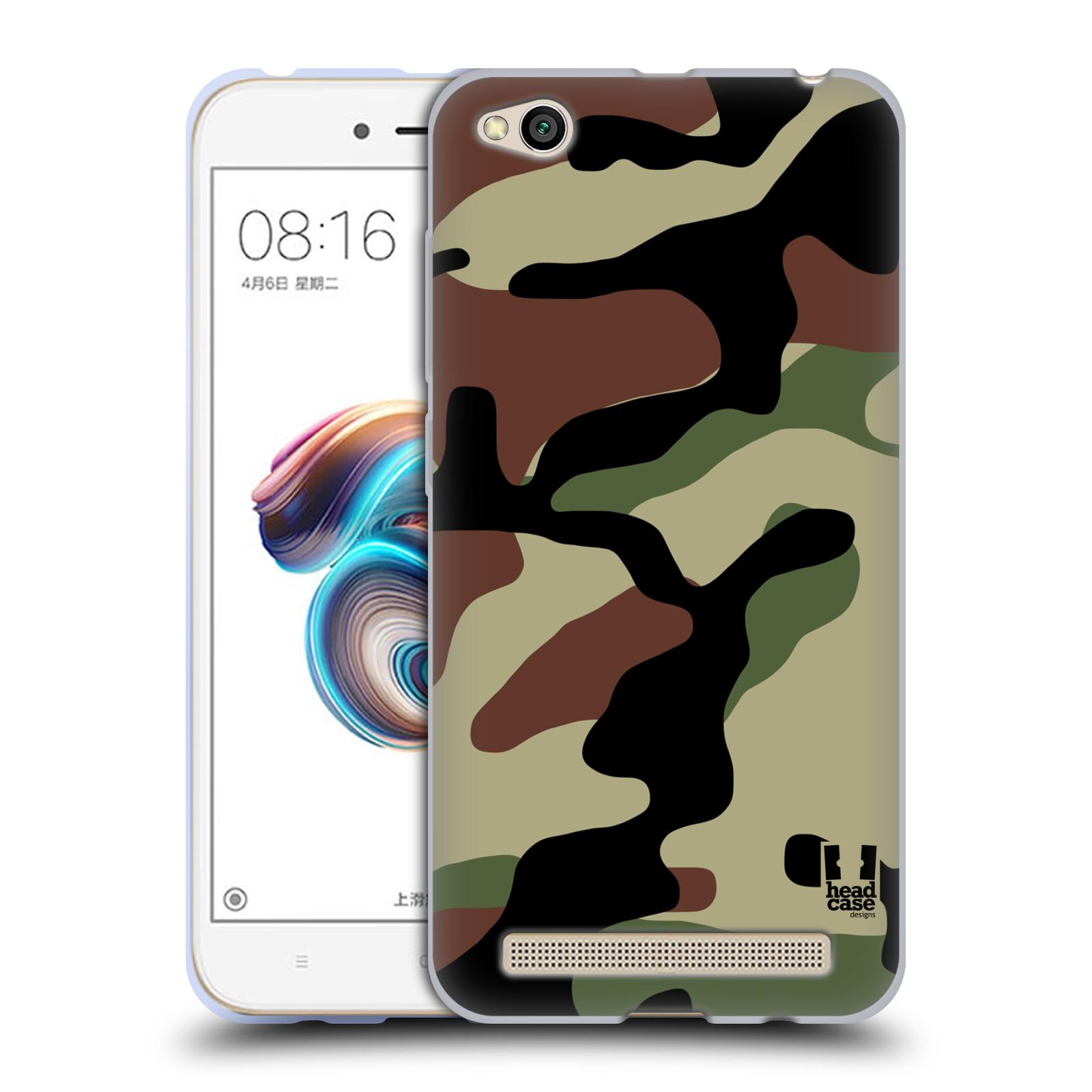 Silikonové pouzdro na mobil Xiaomi Redmi 5A - Head Case - Maskáče