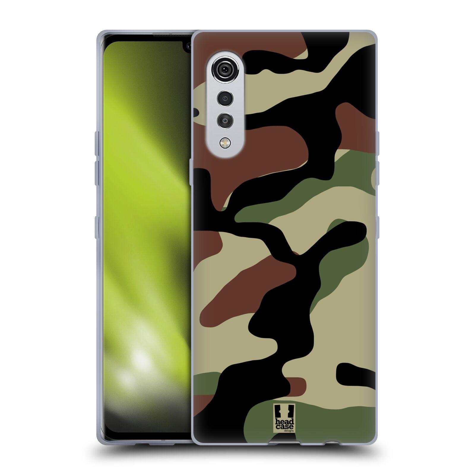 Silikonové pouzdro na mobil LG Velvet - Head Case - Maskáče