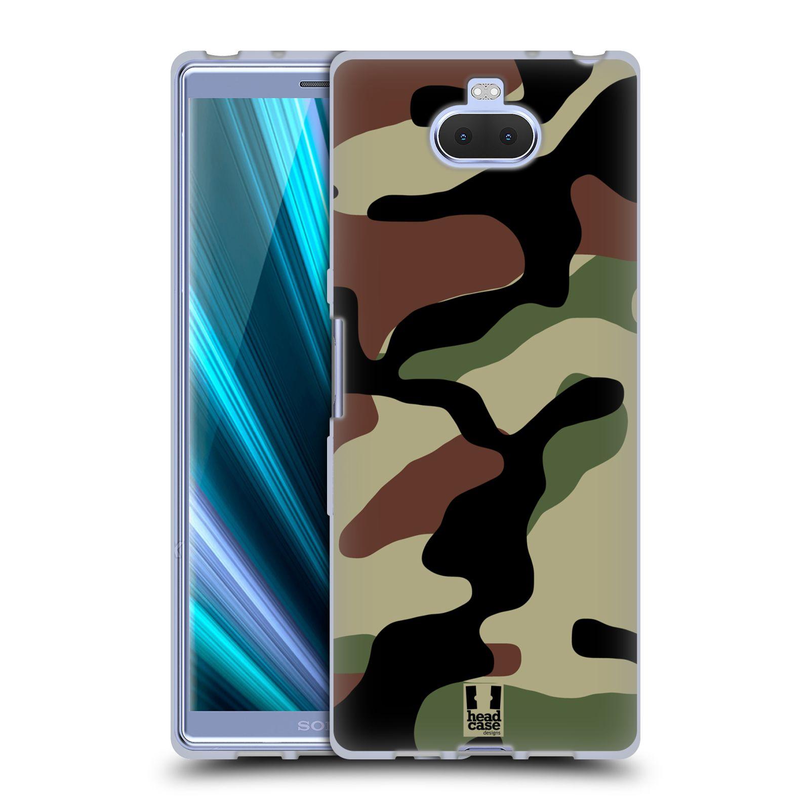 Silikonové pouzdro na mobil Sony Xperia 10 - Head Case - Maskáče