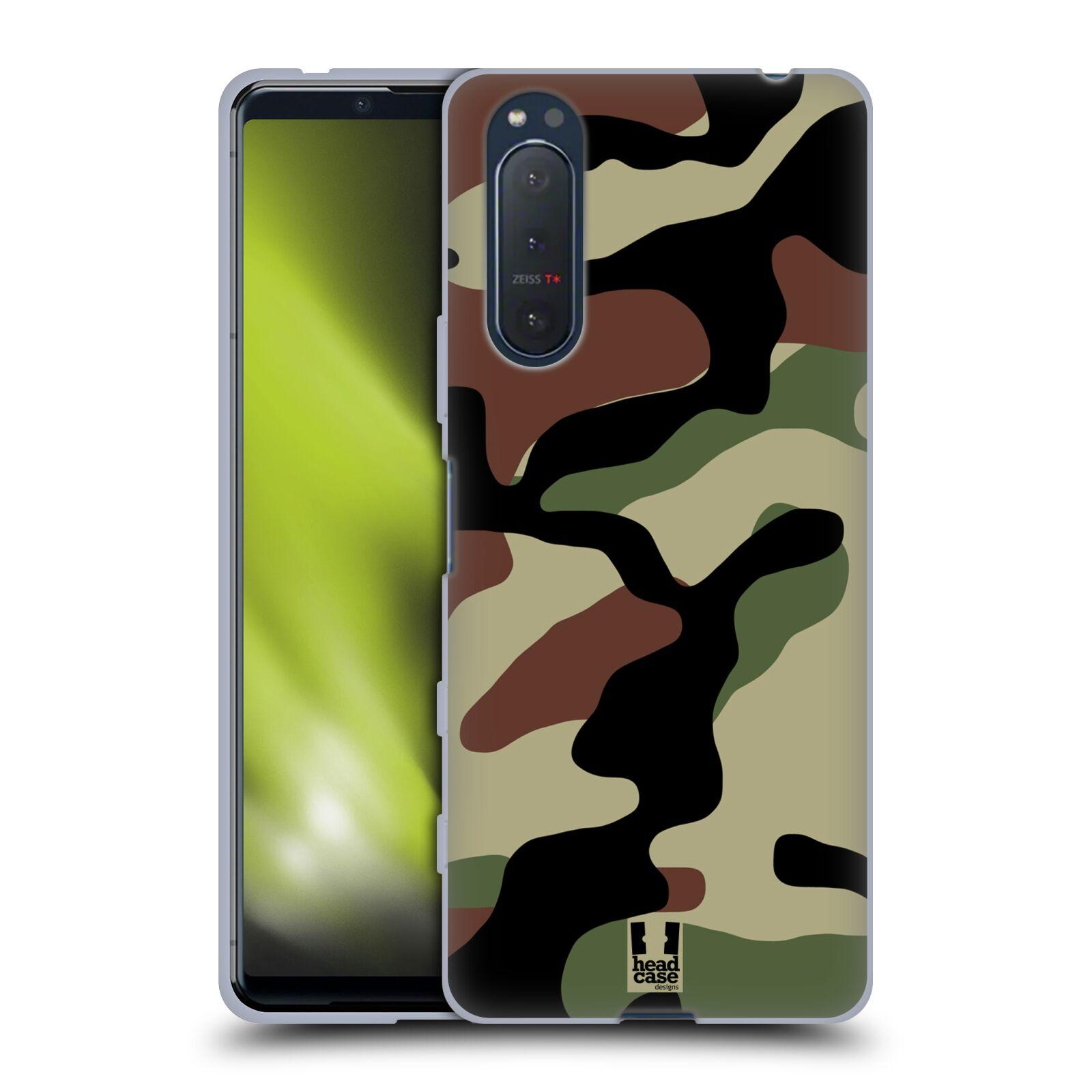 Silikonové pouzdro na mobil Sony Xperia 5 II - Head Case - Maskáče
