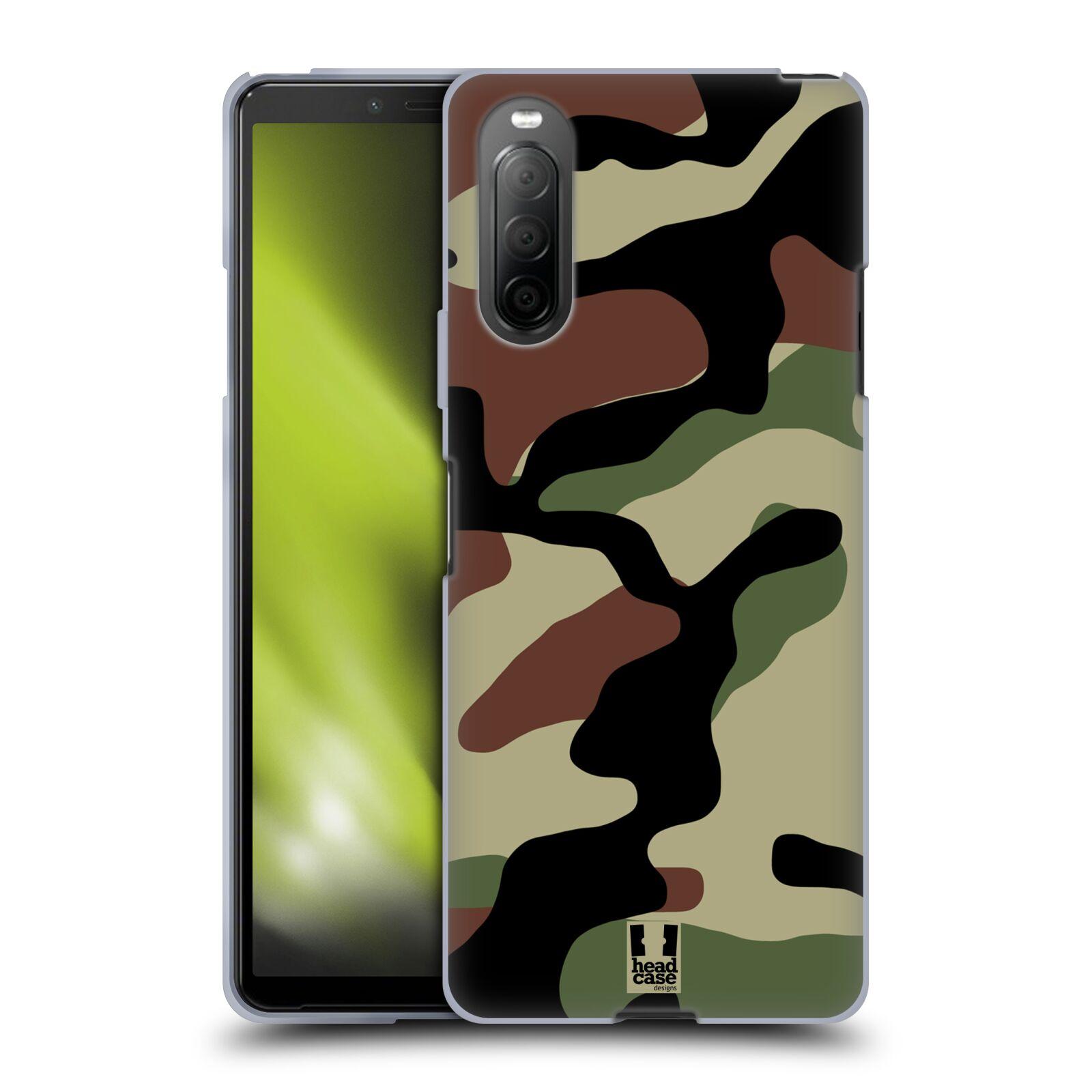 Silikonové pouzdro na mobil Sony Xperia 10 II - Head Case - Maskáče