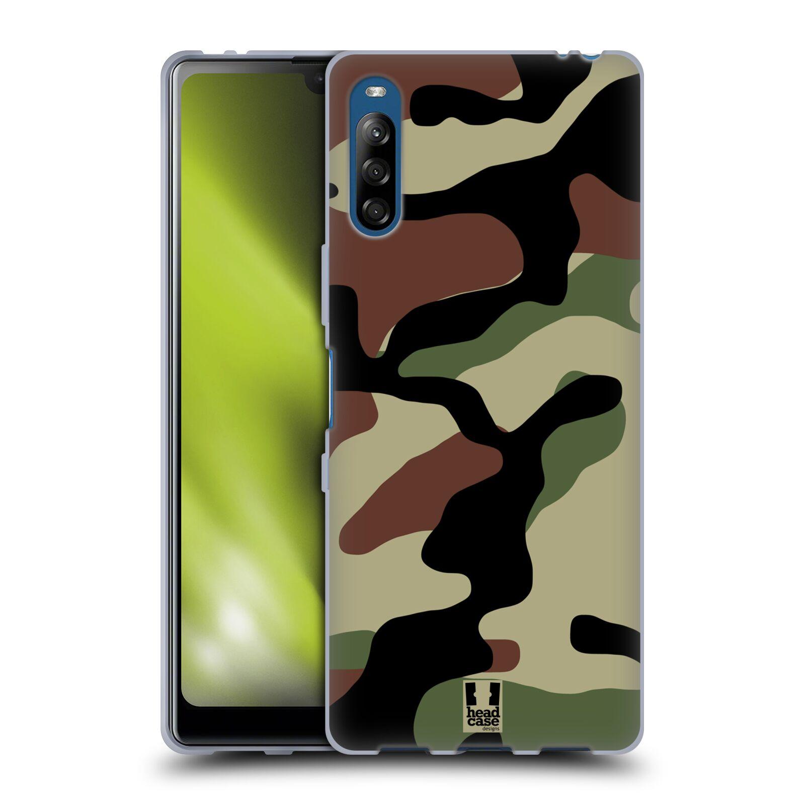 Silikonové pouzdro na mobil Sony Xperia L4 - Head Case - Maskáče
