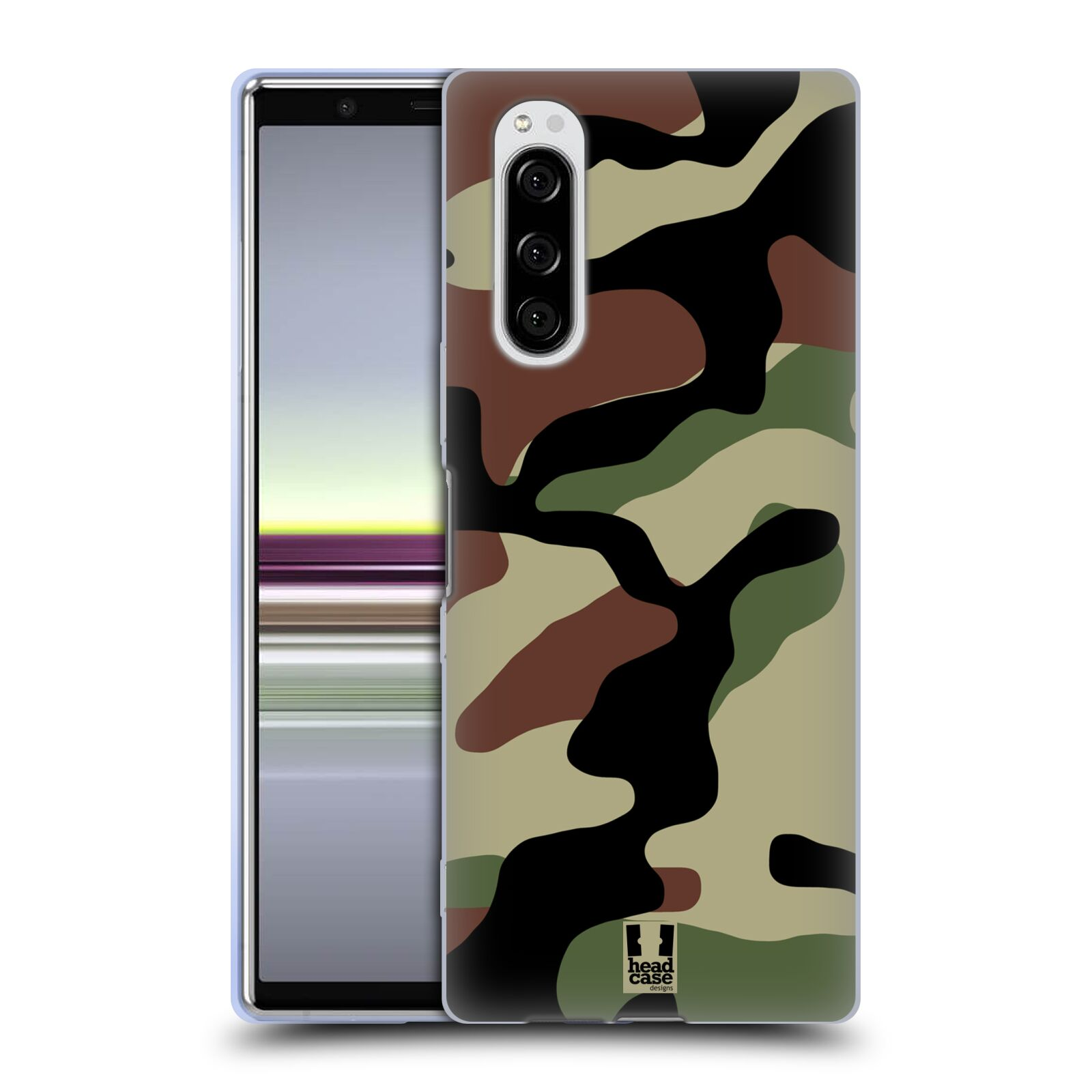 Silikonové pouzdro na mobil Sony Xperia 5 - Head Case - Maskáče