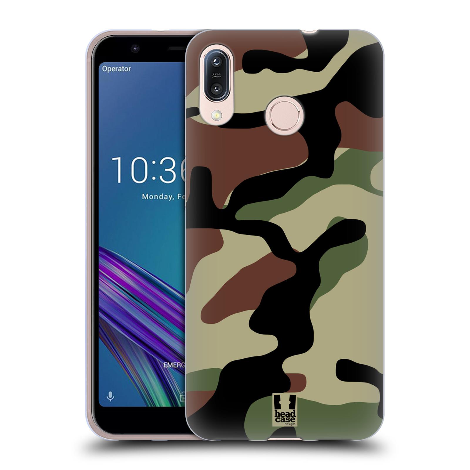 Silikonové pouzdro na mobil Asus Zenfone Max M1 ZB555KL - Head Case - Maskáče