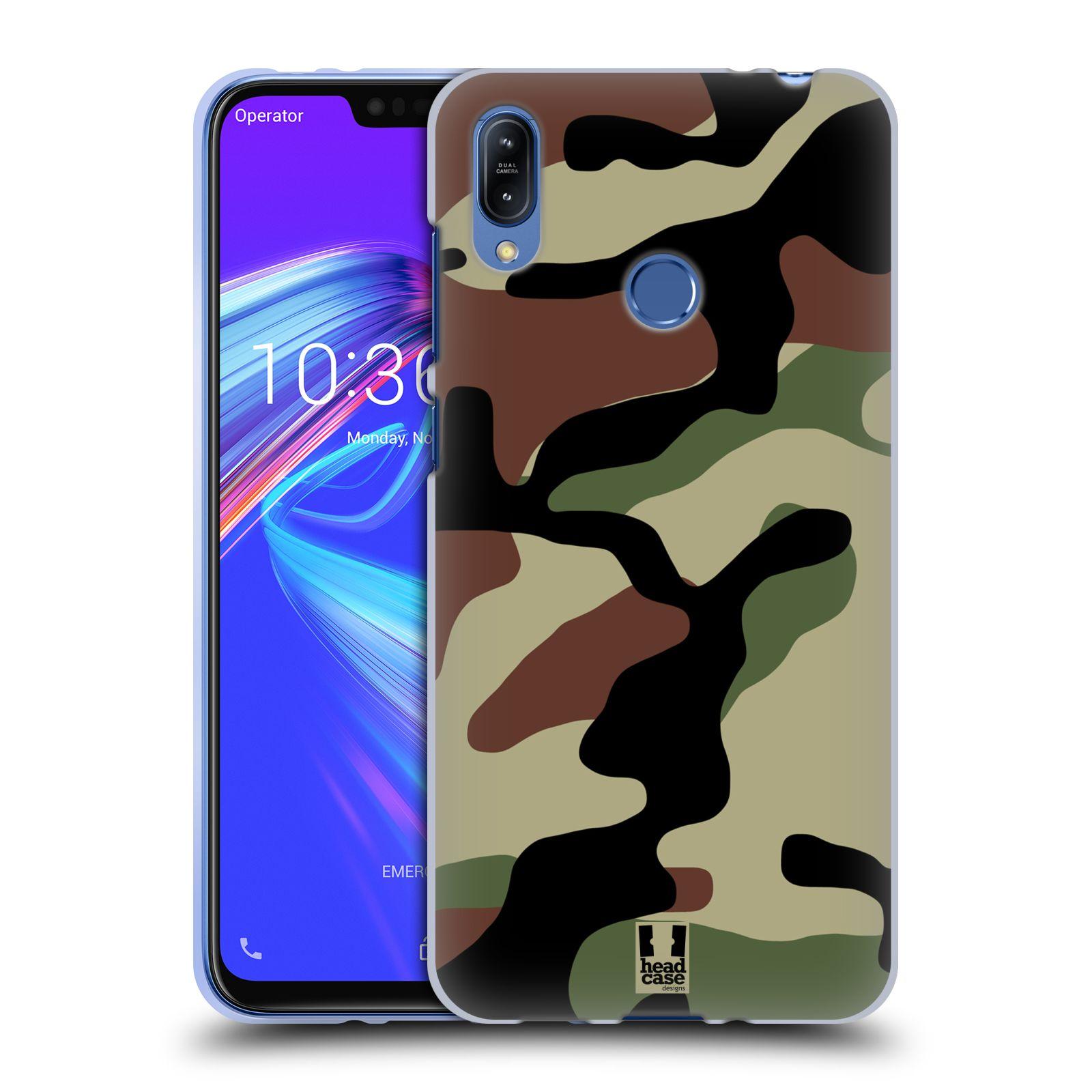 Silikonové pouzdro na mobil Asus Zenfone Max (M2) ZB633KL - Head Case - Maskáče