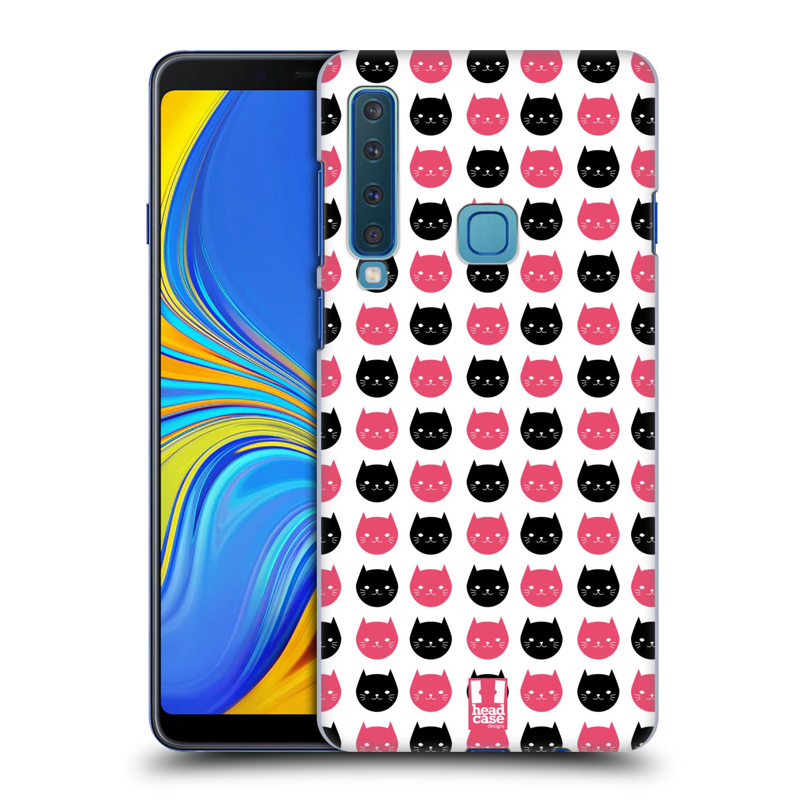 Plastové pouzdro na mobil Samsung Galaxy A9 (2018) - Head Case - KOČKY Black and Pink