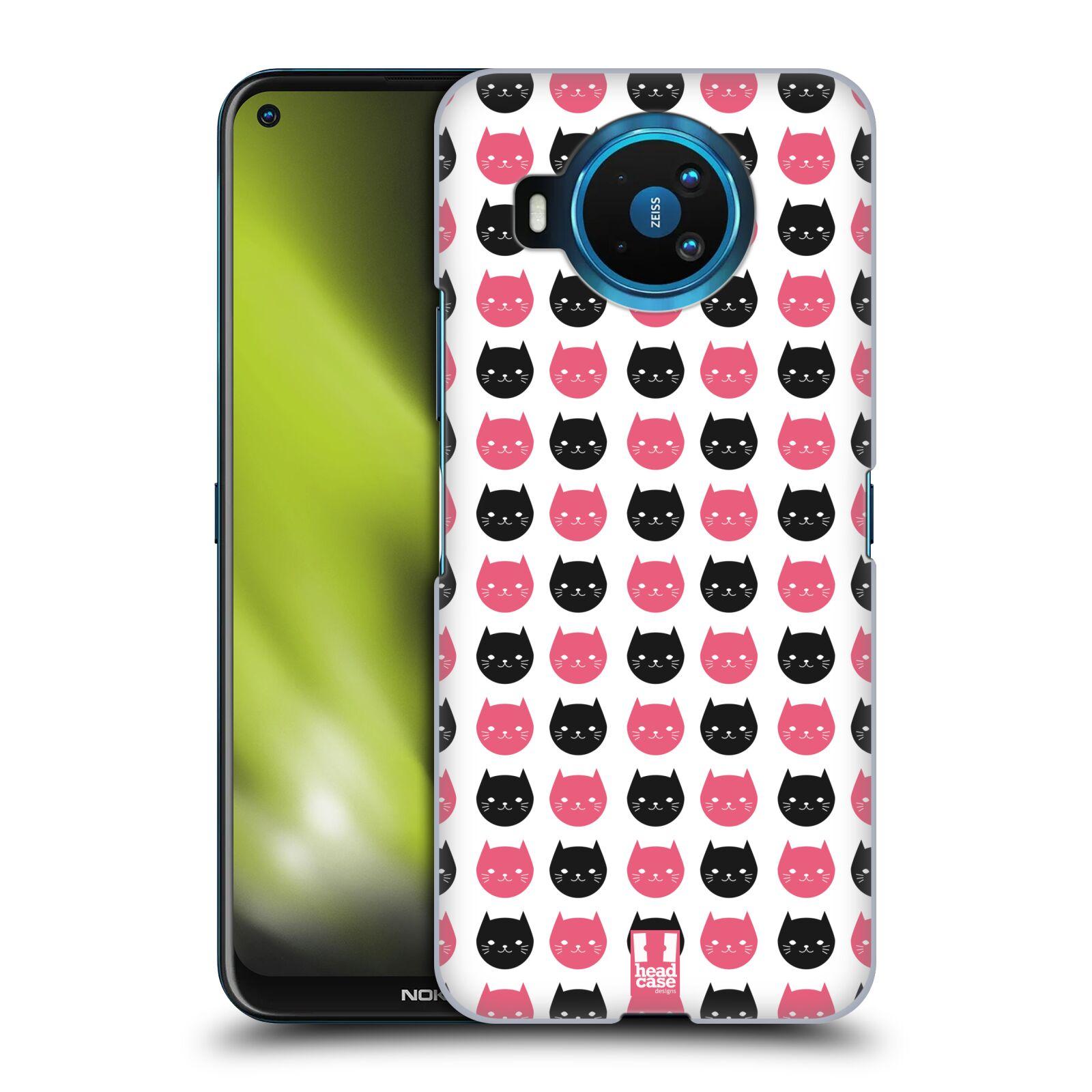 Plastové pouzdro na mobil Nokia 8.3 5G - Head Case - KOČKY Black and Pink