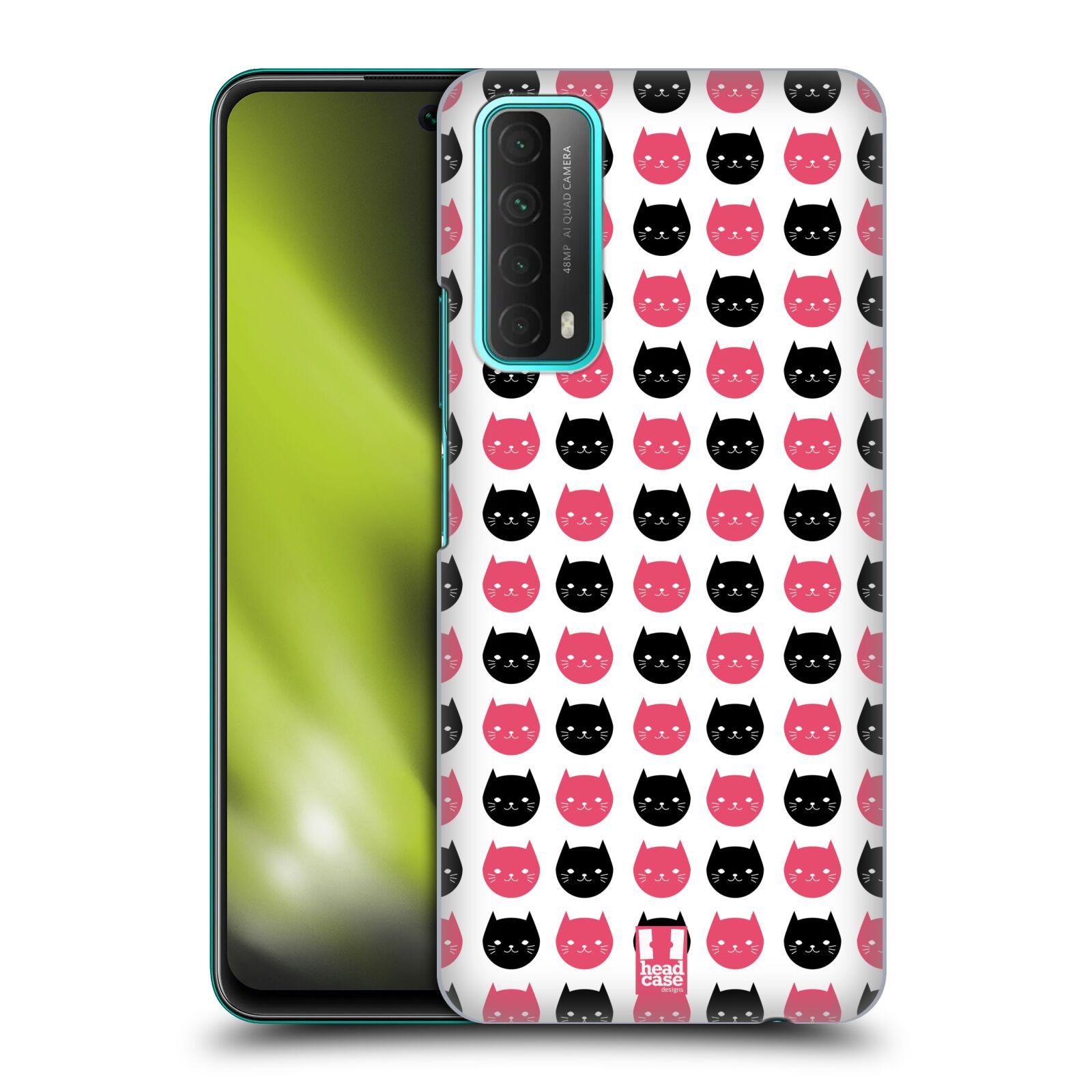 Plastové pouzdro na mobil Huawei P Smart (2021) - Head Case - KOČKY Black and Pink