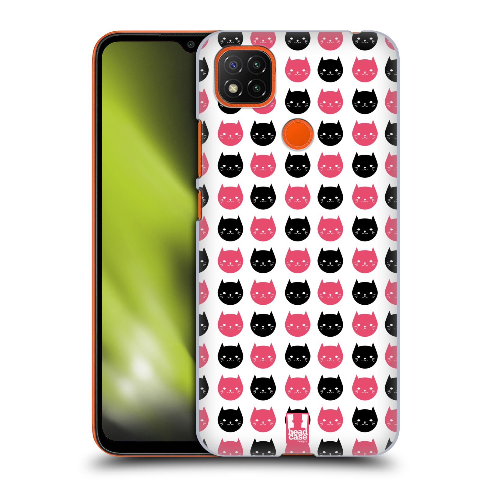 Plastové pouzdro na mobil Xiaomi Redmi 9C - Head Case - KOČKY Black and Pink