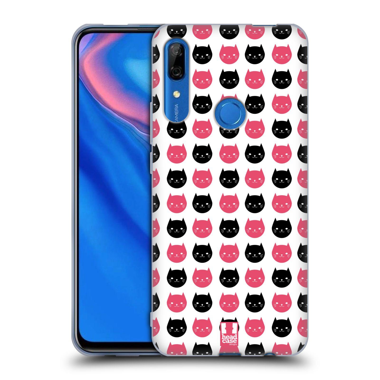 Silikonové pouzdro na mobil Huawei P Smart Z - Head Case - KOČKY Black and Pink