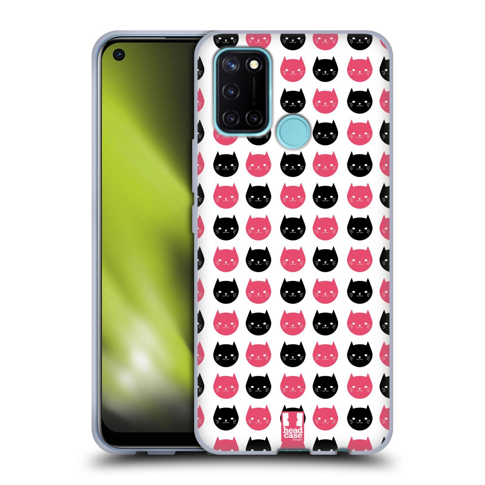 Silikonové pouzdro na mobil Realme 7i - Head Case - KOČKY Black and Pink