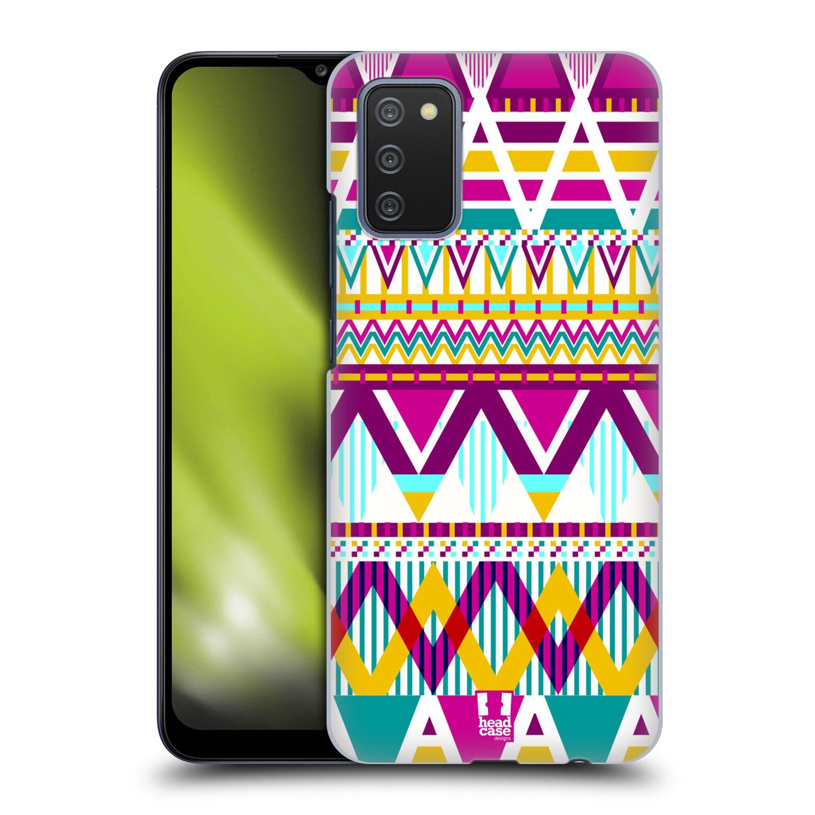Plastové pouzdro na mobil Samsung Galaxy A02s - Head Case - AZTEC SUGARED