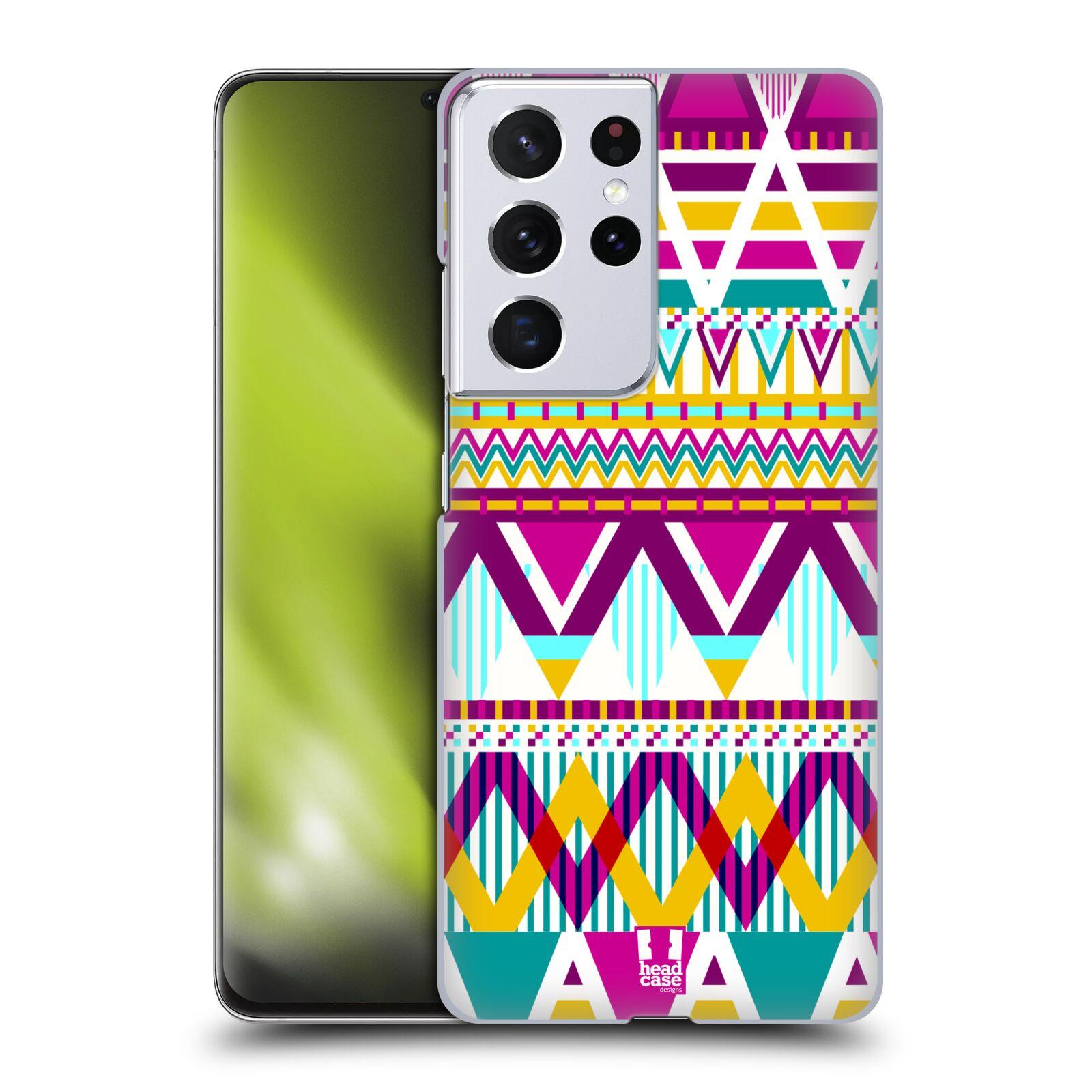 Plastové pouzdro na mobil Samsung Galaxy S21 Ultra 5G - Head Case - AZTEC SUGARED