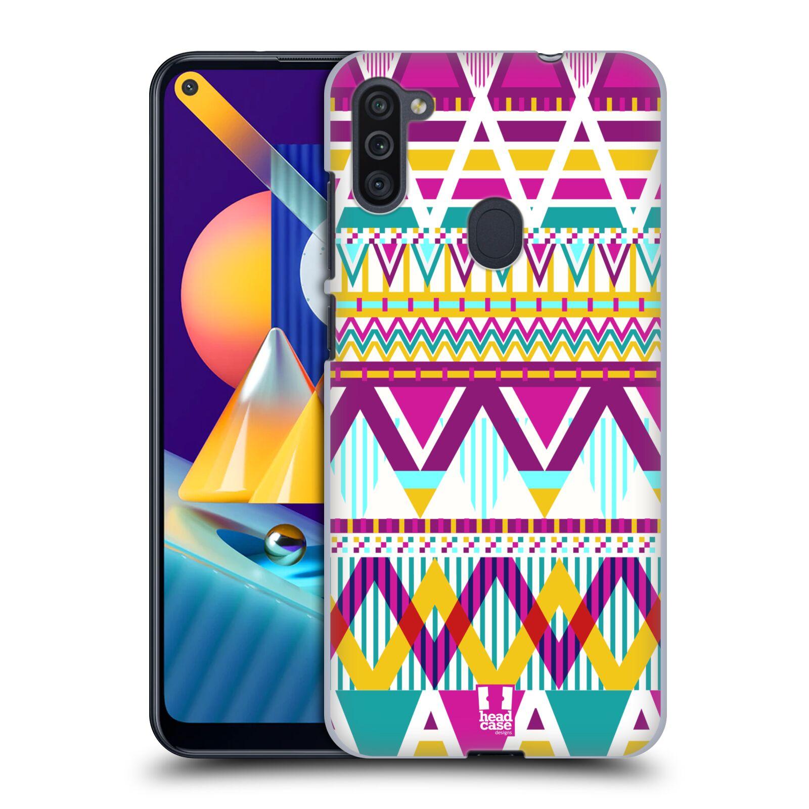 Plastové pouzdro na mobil Samsung Galaxy M11 - Head Case - AZTEC SUGARED