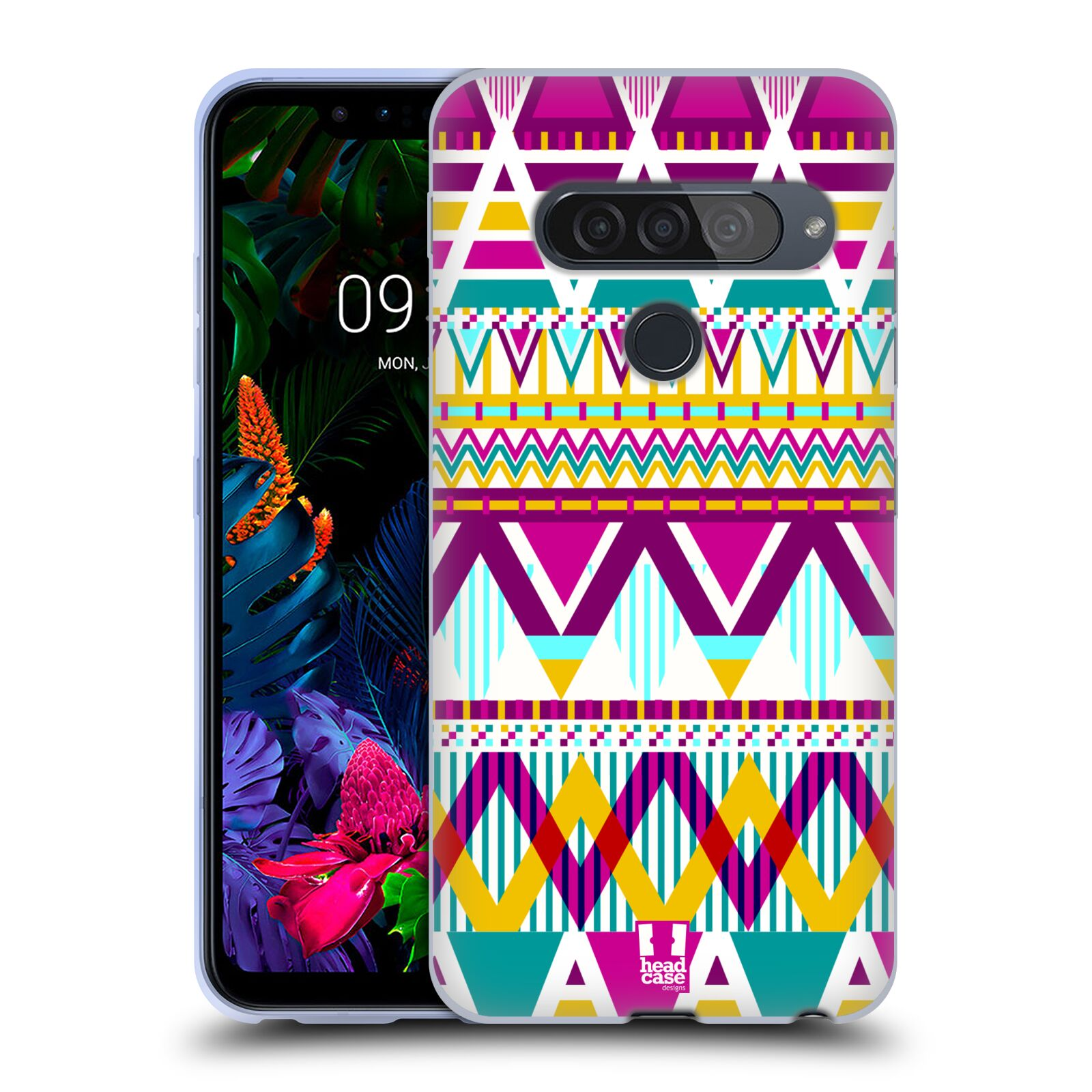 Silikonové pouzdro na mobil LG G8s ThinQ - Head Case - AZTEC SUGARED