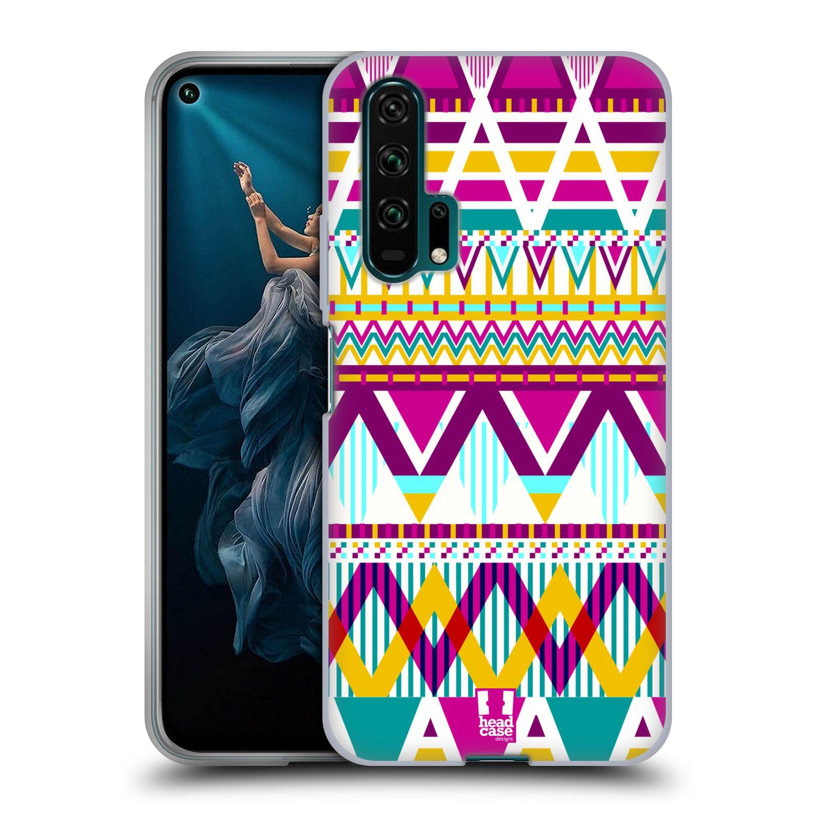 Silikonové pouzdro na mobil Honor 20 Pro - Head Case - AZTEC SUGARED
