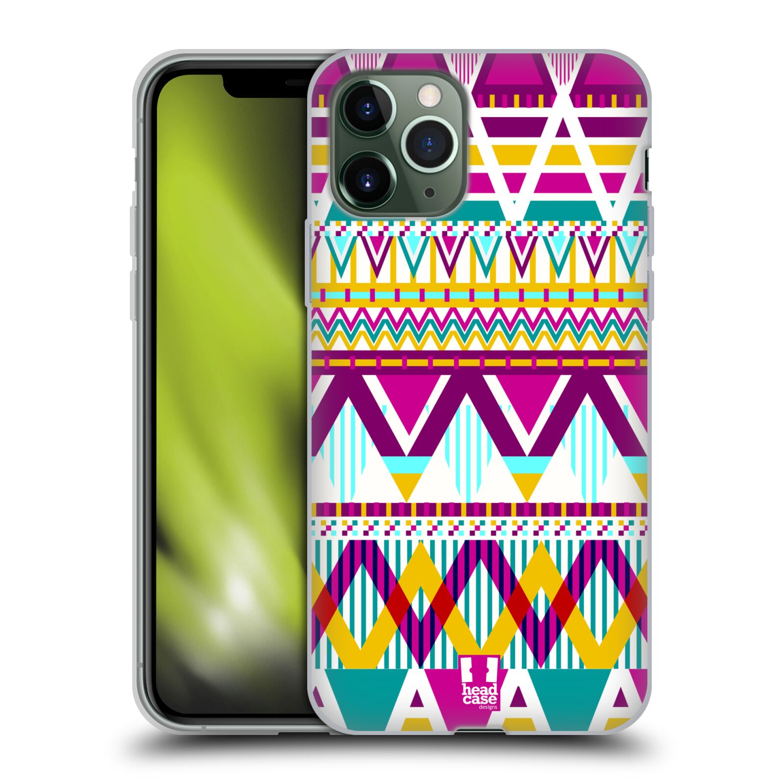 original krytu na iphone xs max - Silikonové pouzdro na mobil Apple iPhone 11 Pro - Head Case - AZTEC SUGARED