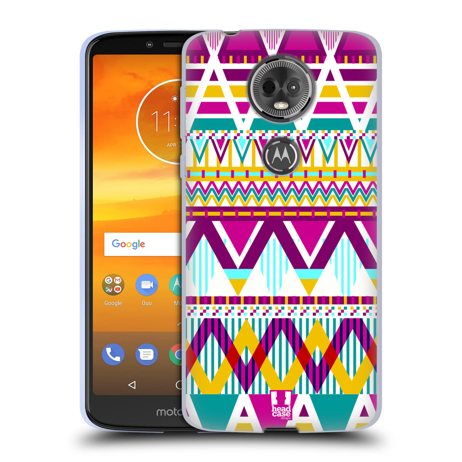 Silikonové pouzdro na mobil Motorola Moto E5 Plus - Head Case - AZTEC SUGARED