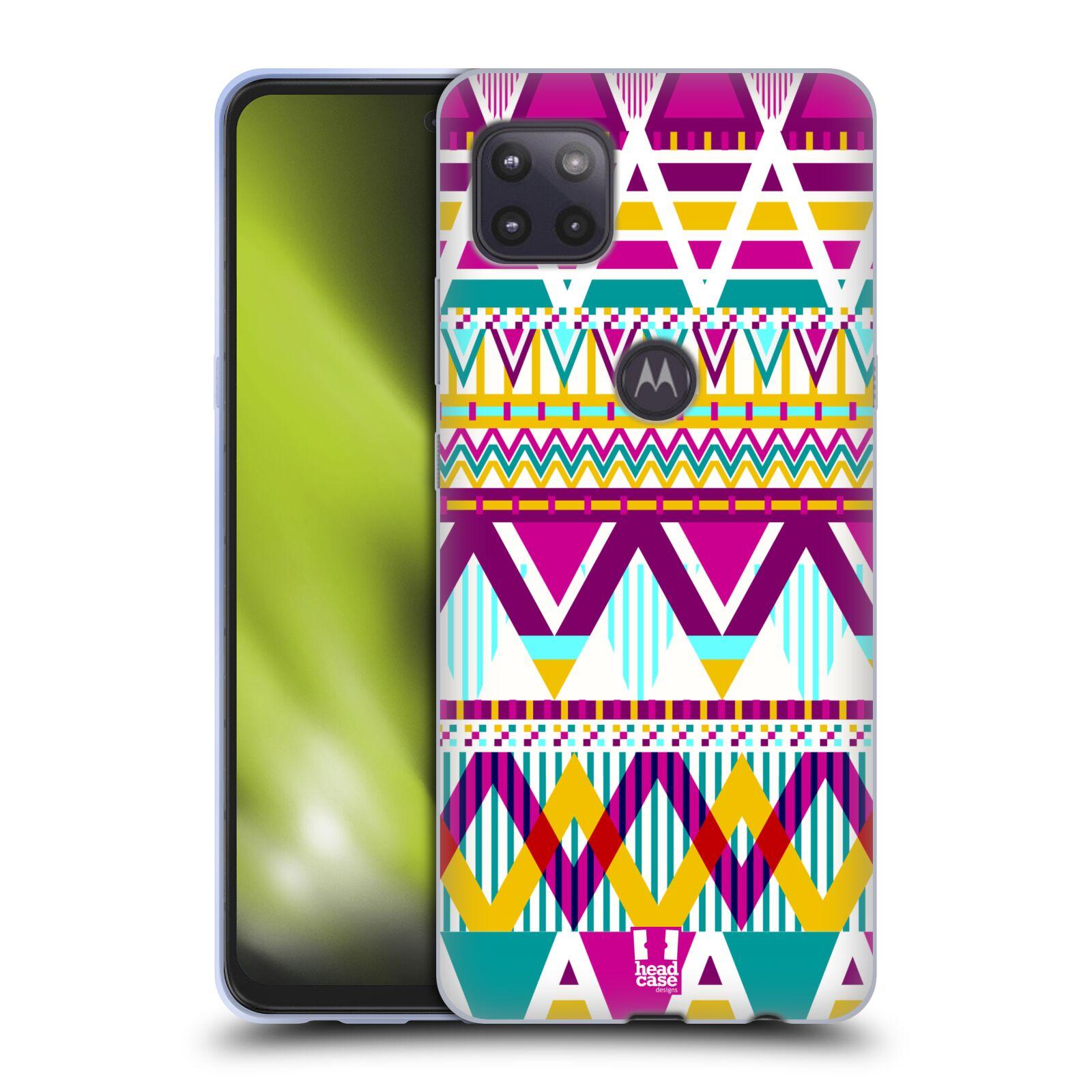 Silikonové pouzdro na mobil Motorola Moto G 5G - Head Case - AZTEC SUGARED
