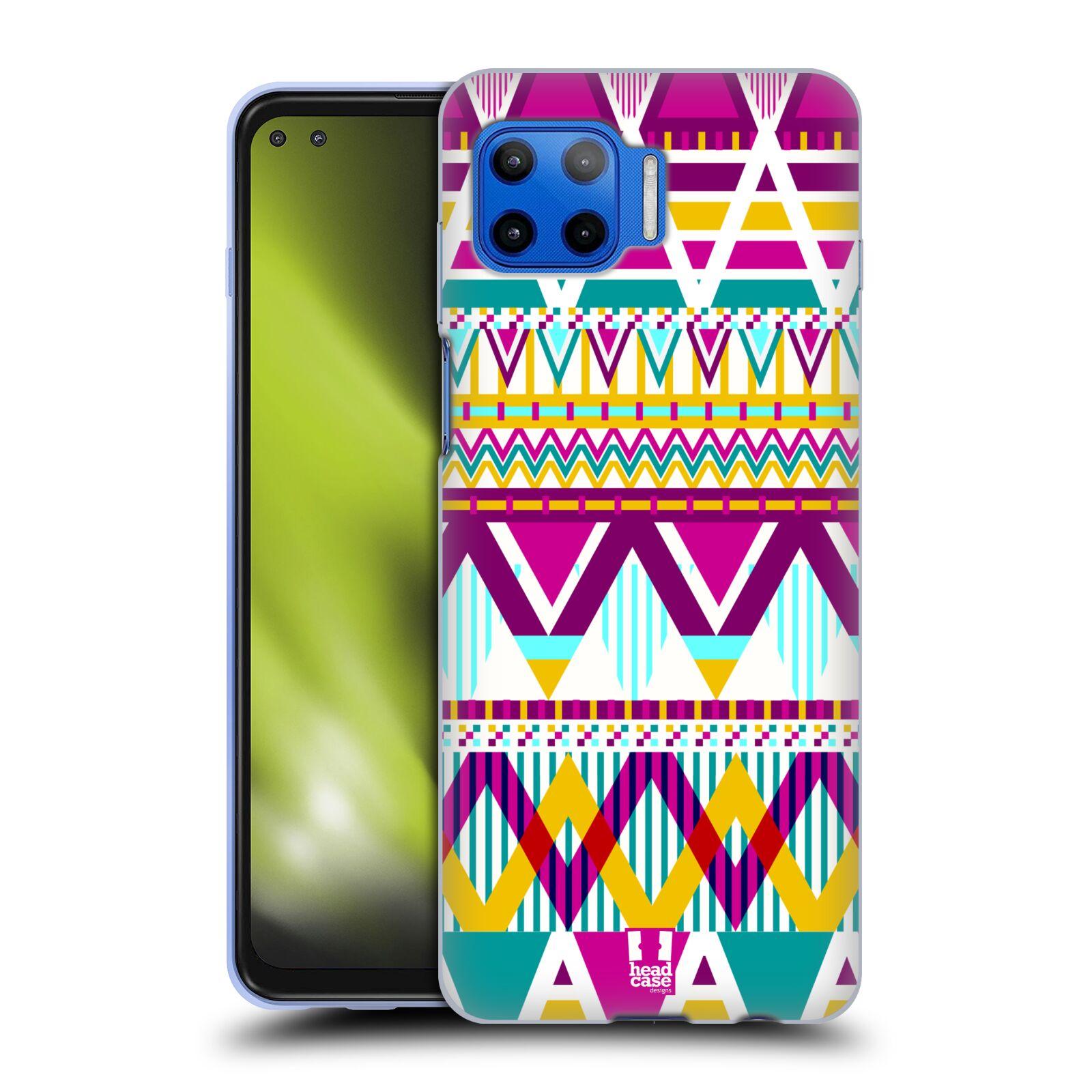 Silikonové pouzdro na mobil Motorola Moto G 5G Plus - Head Case - AZTEC SUGARED