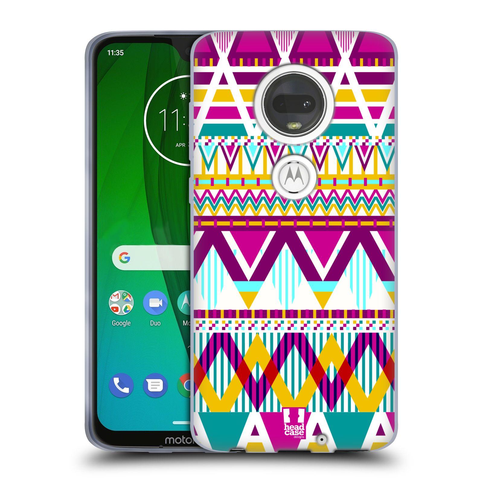 Silikonové pouzdro na mobil Motorola Moto G7 - Head Case - AZTEC SUGARED