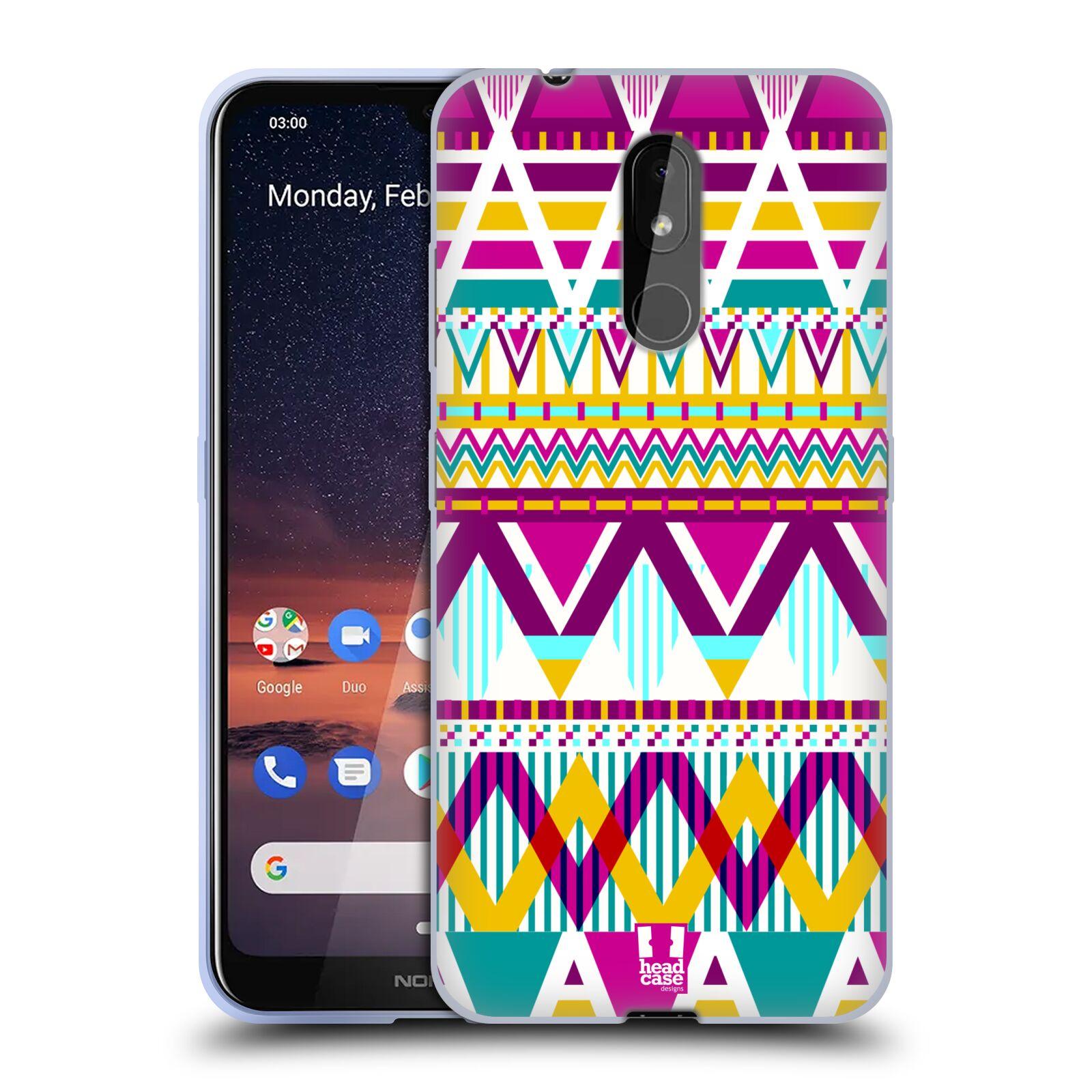 Silikonové pouzdro na mobil Nokia 3.2 - Head Case - AZTEC SUGARED