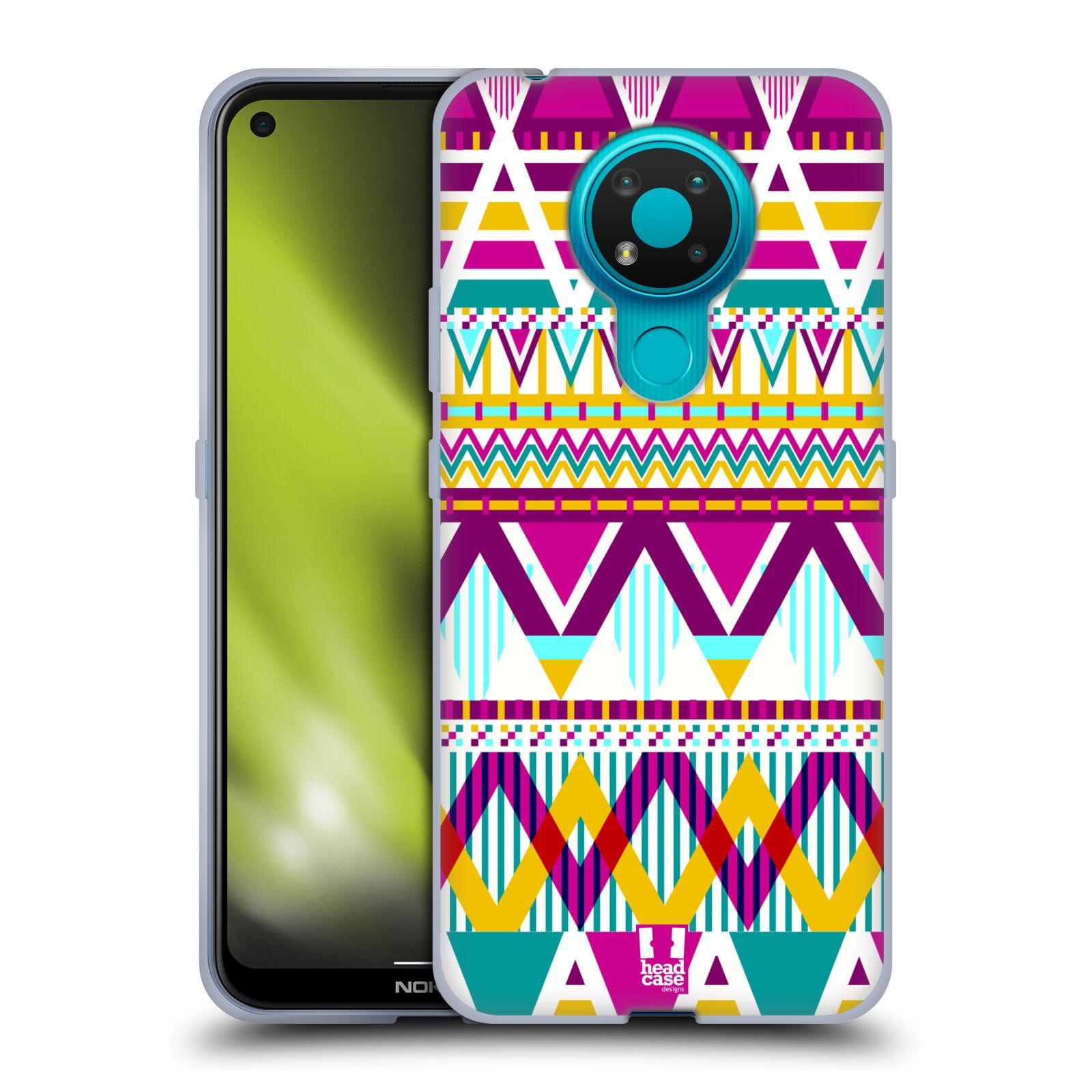 Silikonové pouzdro na mobil Nokia 3.4 - Head Case - AZTEC SUGARED