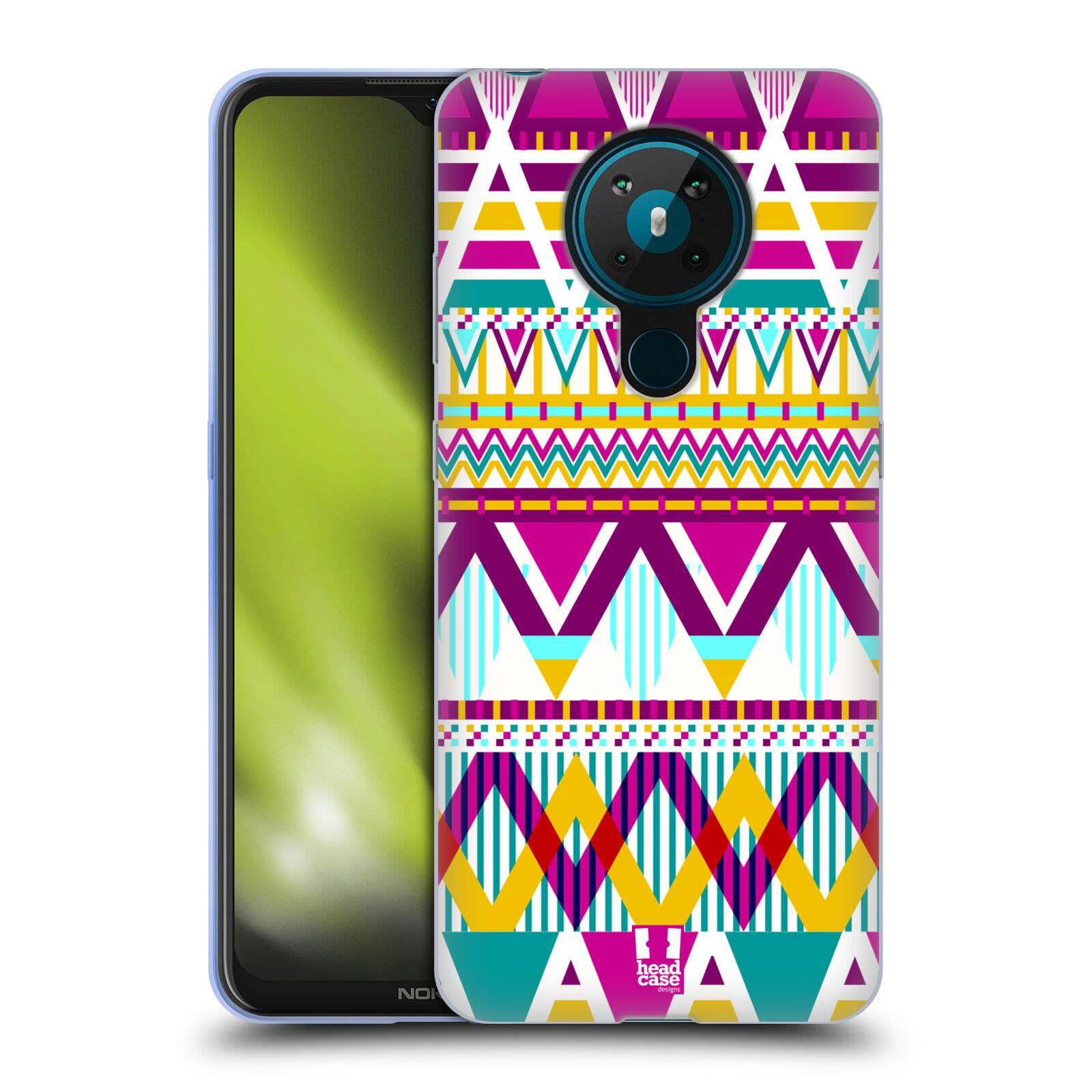 Silikonové pouzdro na mobil Nokia 5.3 - Head Case - AZTEC SUGARED