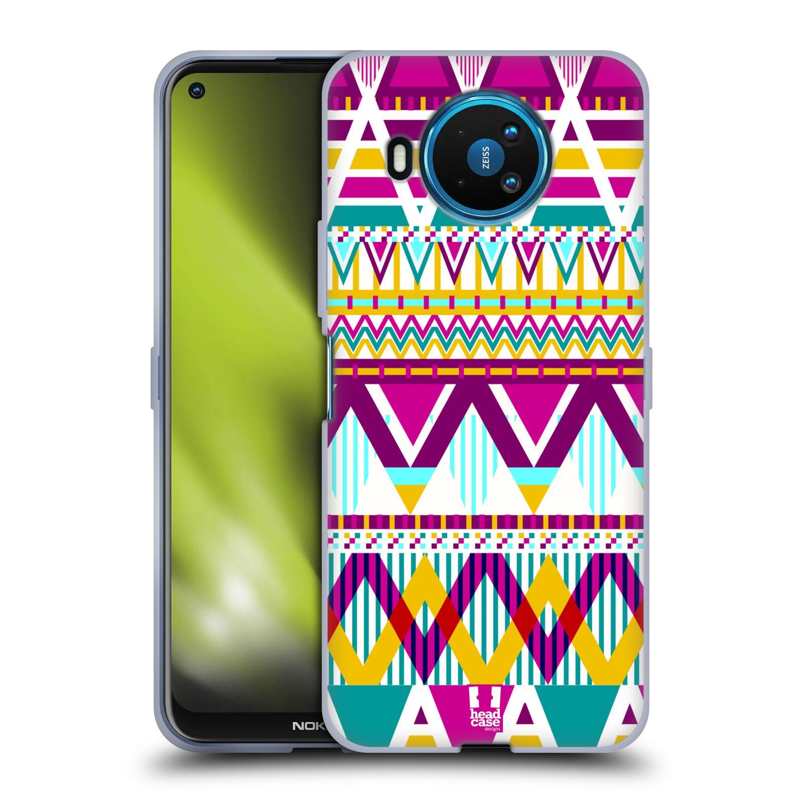 Silikonové pouzdro na mobil Nokia 8.3 5G - Head Case - AZTEC SUGARED