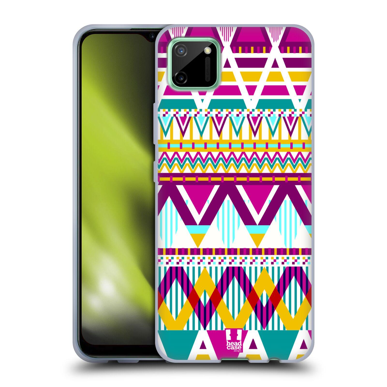 Silikonové pouzdro na mobil Realme C11 - Head Case - AZTEC SUGARED