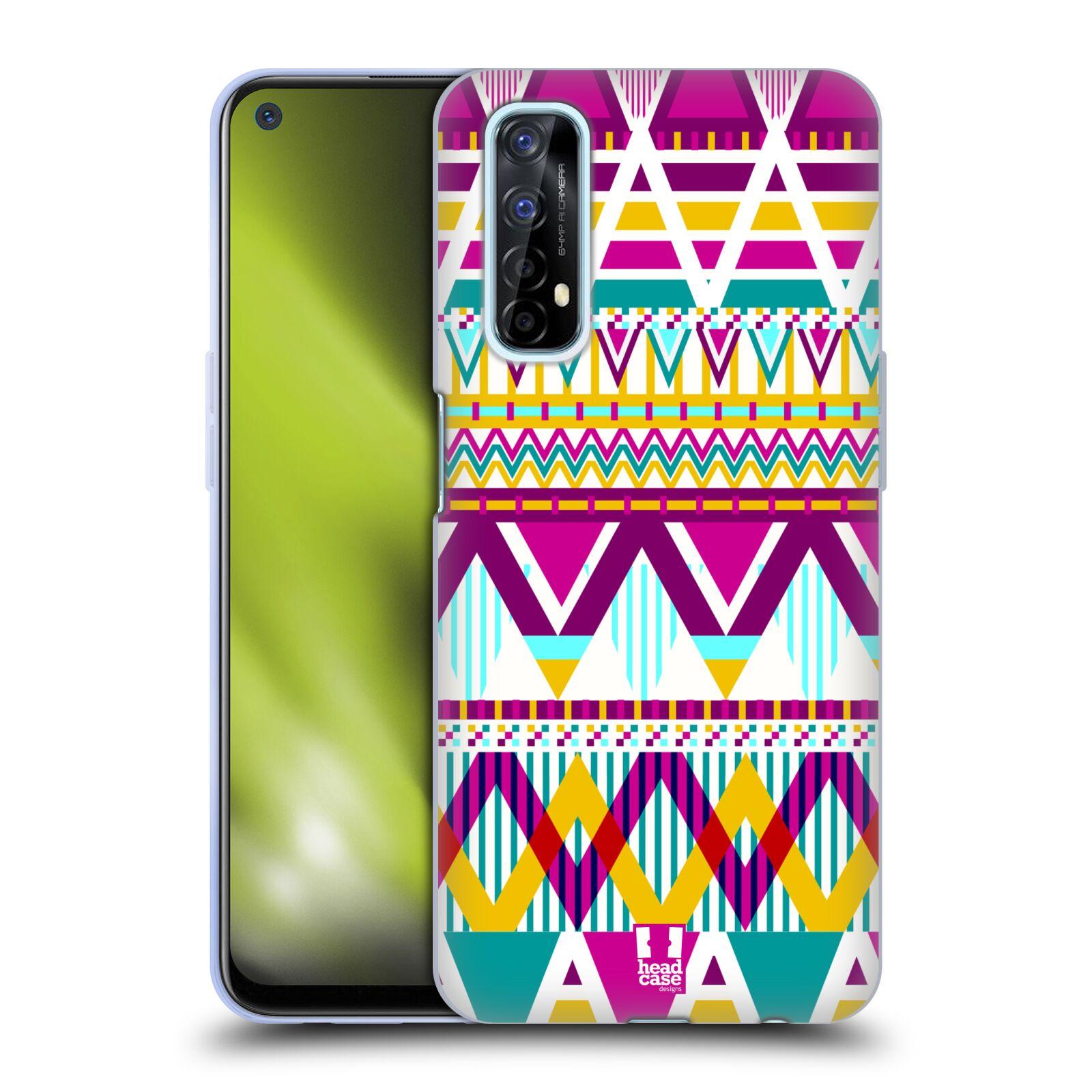 Silikonové pouzdro na mobil Realme 7 - Head Case - AZTEC SUGARED