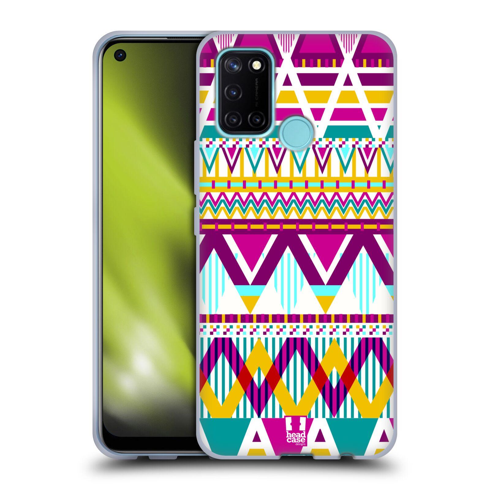Silikonové pouzdro na mobil Realme 7i - Head Case - AZTEC SUGARED