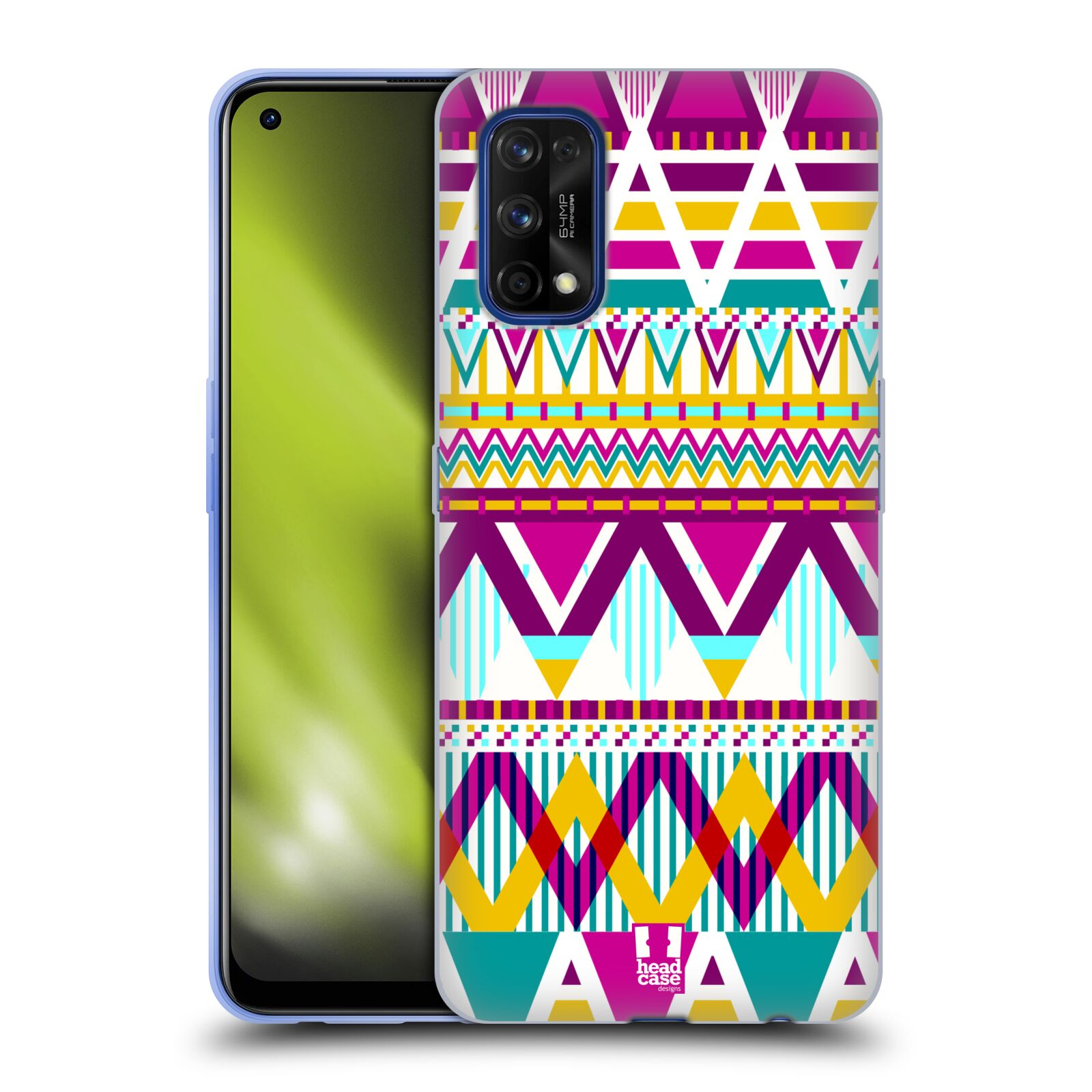 Silikonové pouzdro na mobil Realme 7 Pro - Head Case - AZTEC SUGARED