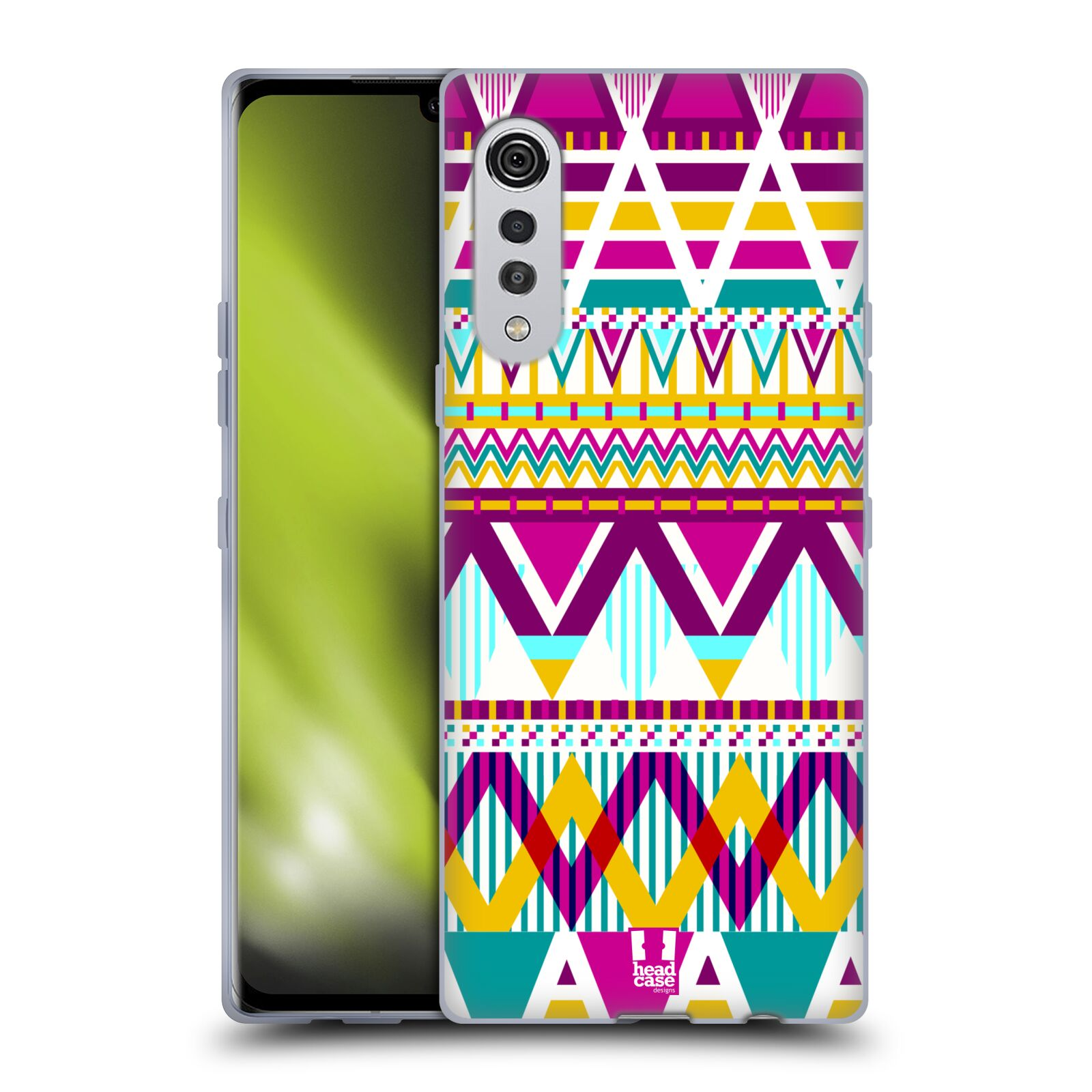 Silikonové pouzdro na mobil LG Velvet - Head Case - AZTEC SUGARED