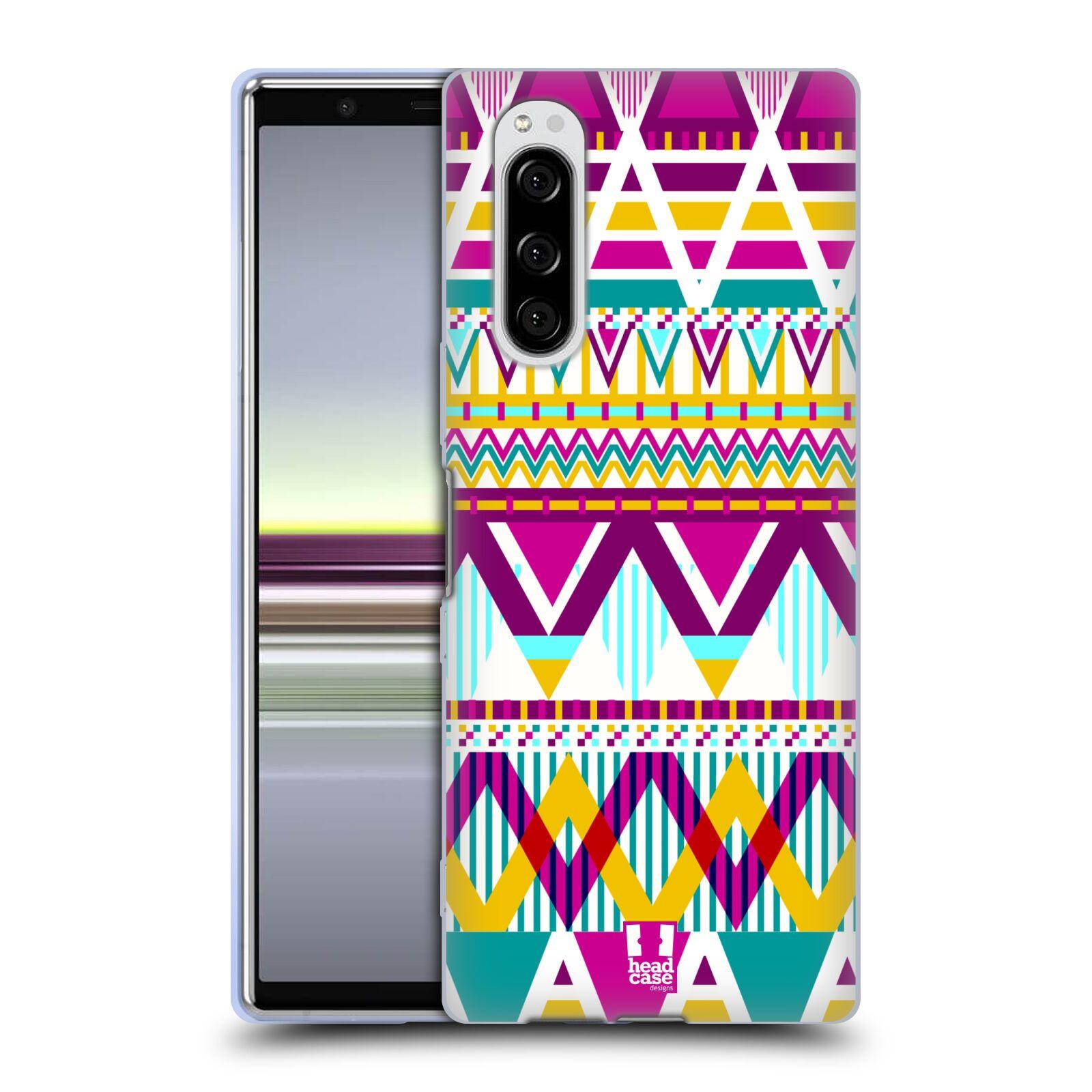Silikonové pouzdro na mobil Sony Xperia 5 - Head Case - AZTEC SUGARED