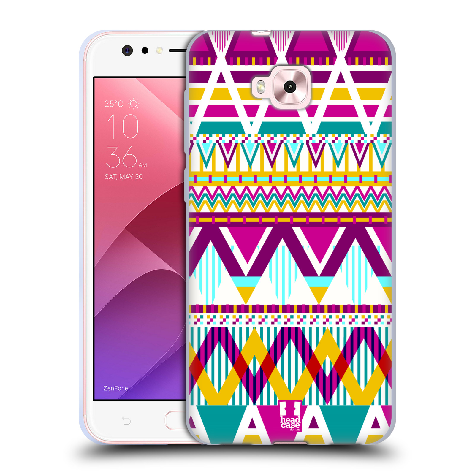 Silikonové pouzdro na mobil Asus Zenfone 4 Selfie ZD553KL - Head Case - AZTEC SUGARED