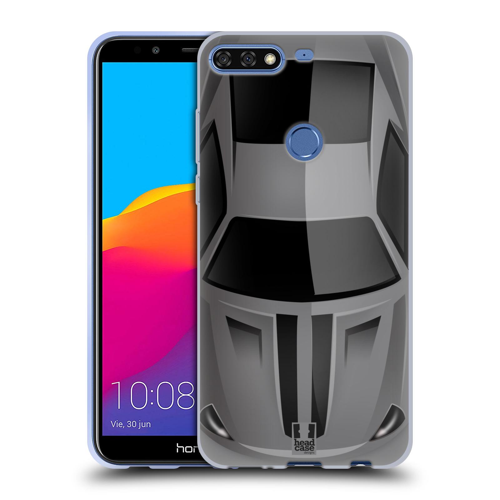 Silikonové pouzdro na mobil Honor 7C - Head Case - AUTO ŠEDÉ (Silikonový  kryt 55d6943b695
