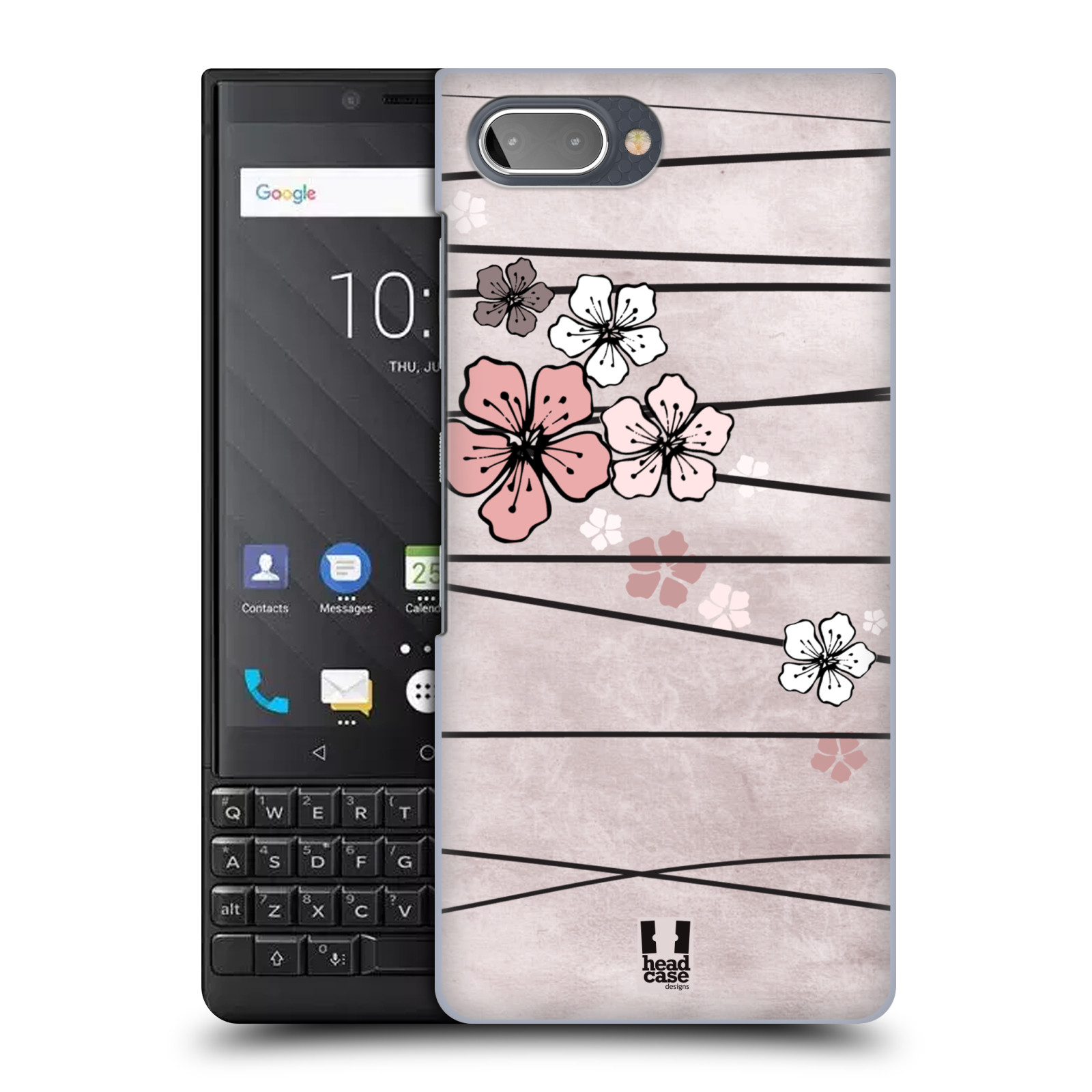 Plastové pouzdro na mobil Blackberry Key 2 - Head Case - BLOSSOMS PAPER