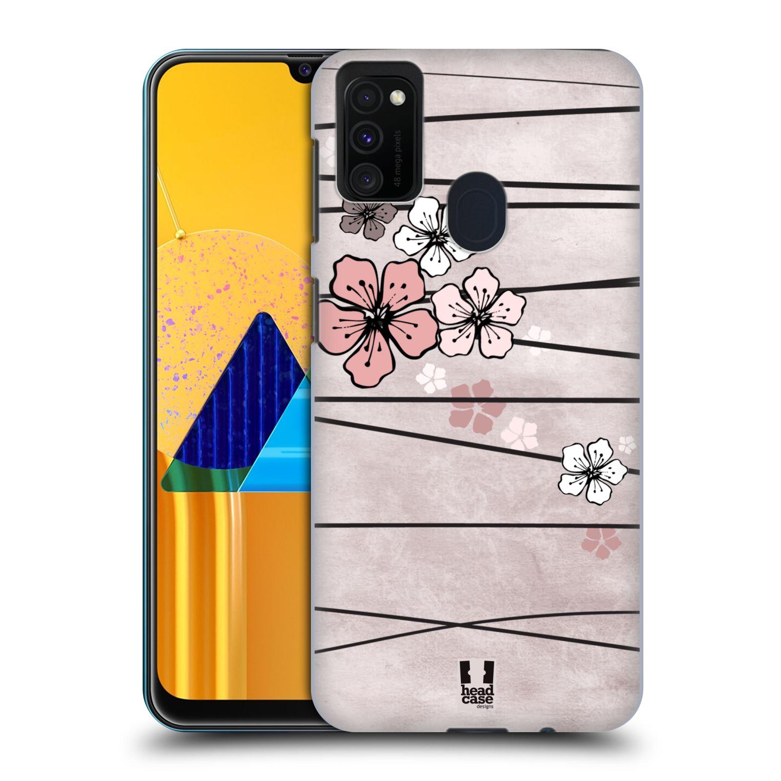 Plastové pouzdro na mobil Samsung Galaxy M21 - Head Case - BLOSSOMS PAPER