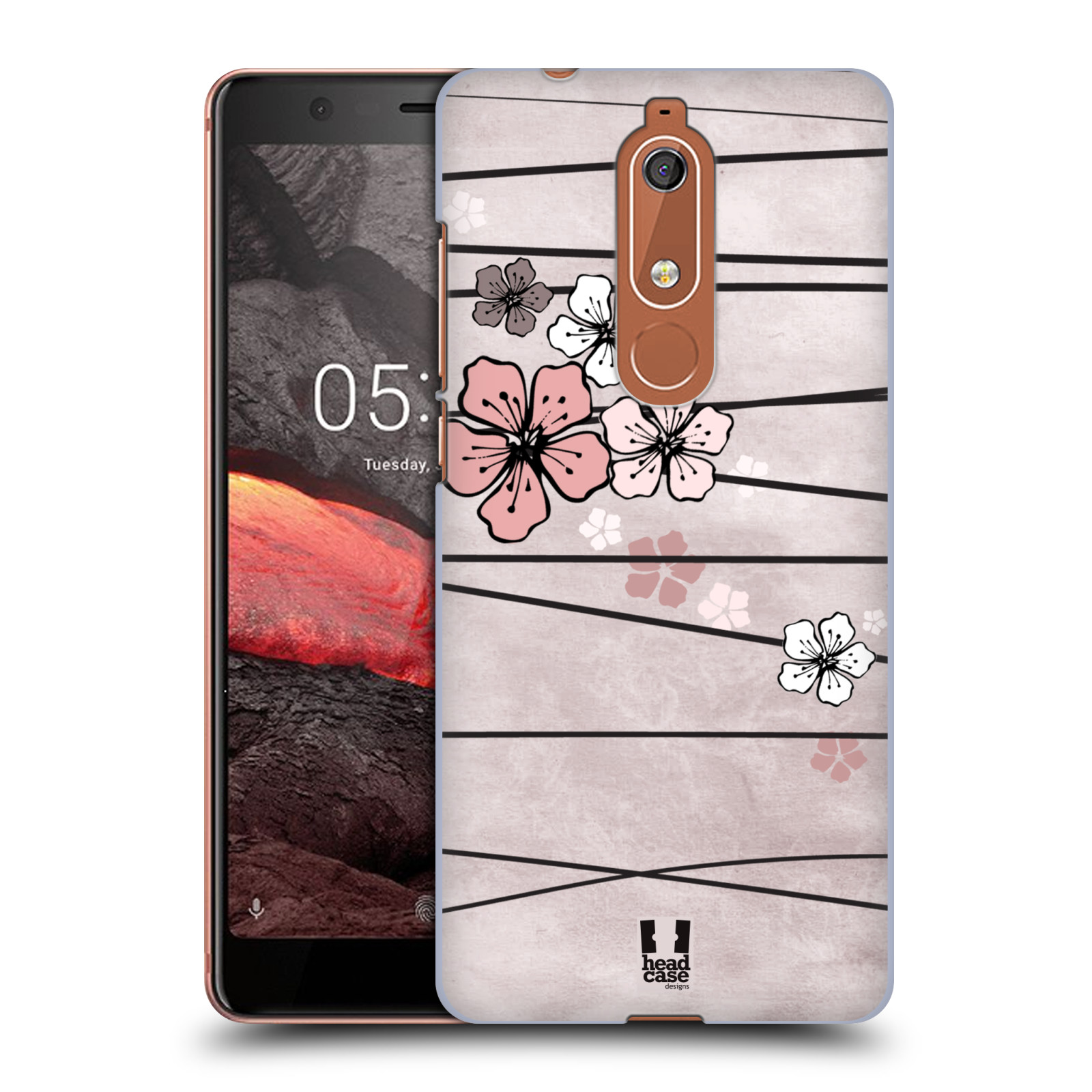 Plastové pouzdro na mobil Nokia 5.1 - Head Case - BLOSSOMS PAPER