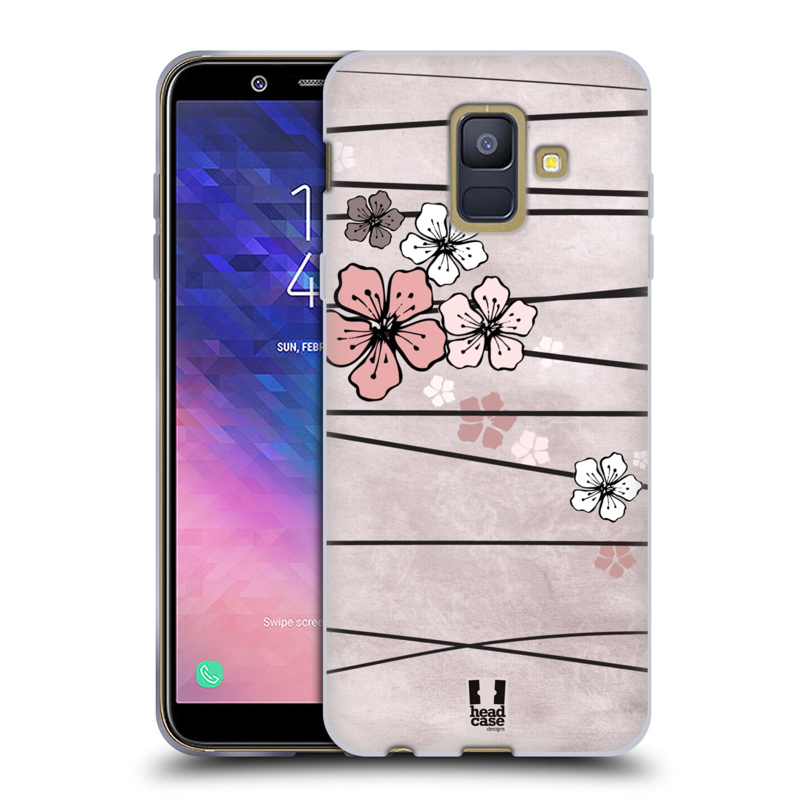 Silikonové pouzdro na mobil Samsung Galaxy A6 (2018) - Head Case - BLOSSOMS PAPER