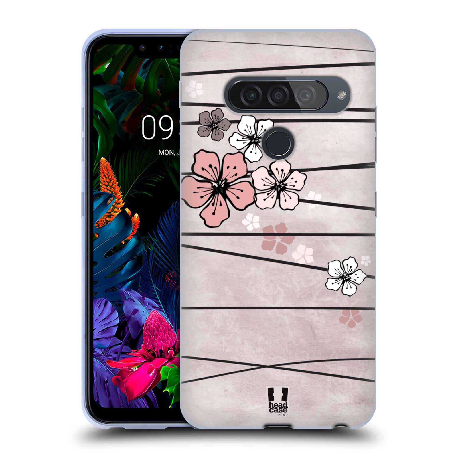 Silikonové pouzdro na mobil LG G8s ThinQ - Head Case - BLOSSOMS PAPER