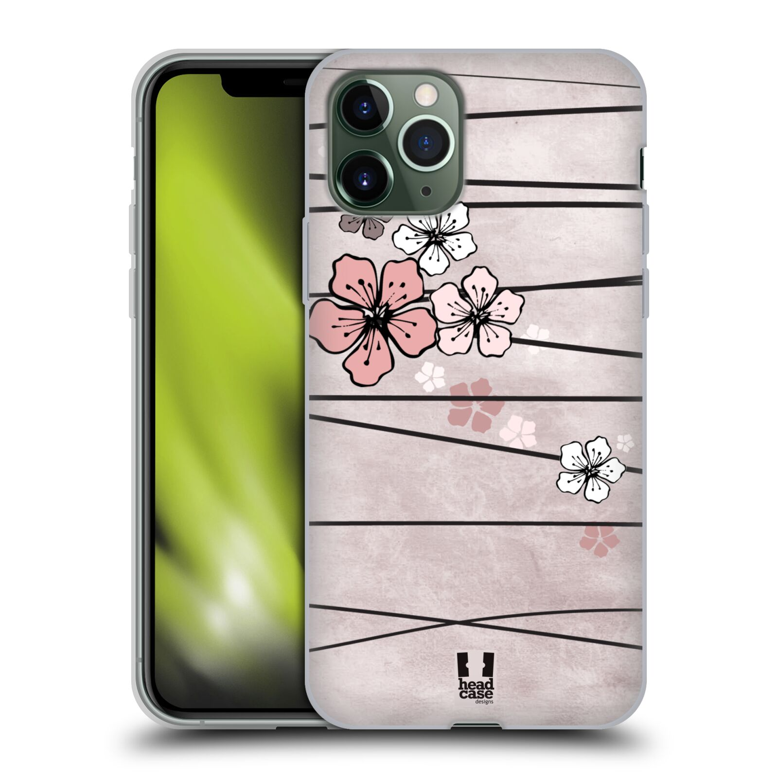 kryt na iphone xs guess , Silikonové pouzdro na mobil Apple iPhone 11 Pro - Head Case - BLOSSOMS PAPER
