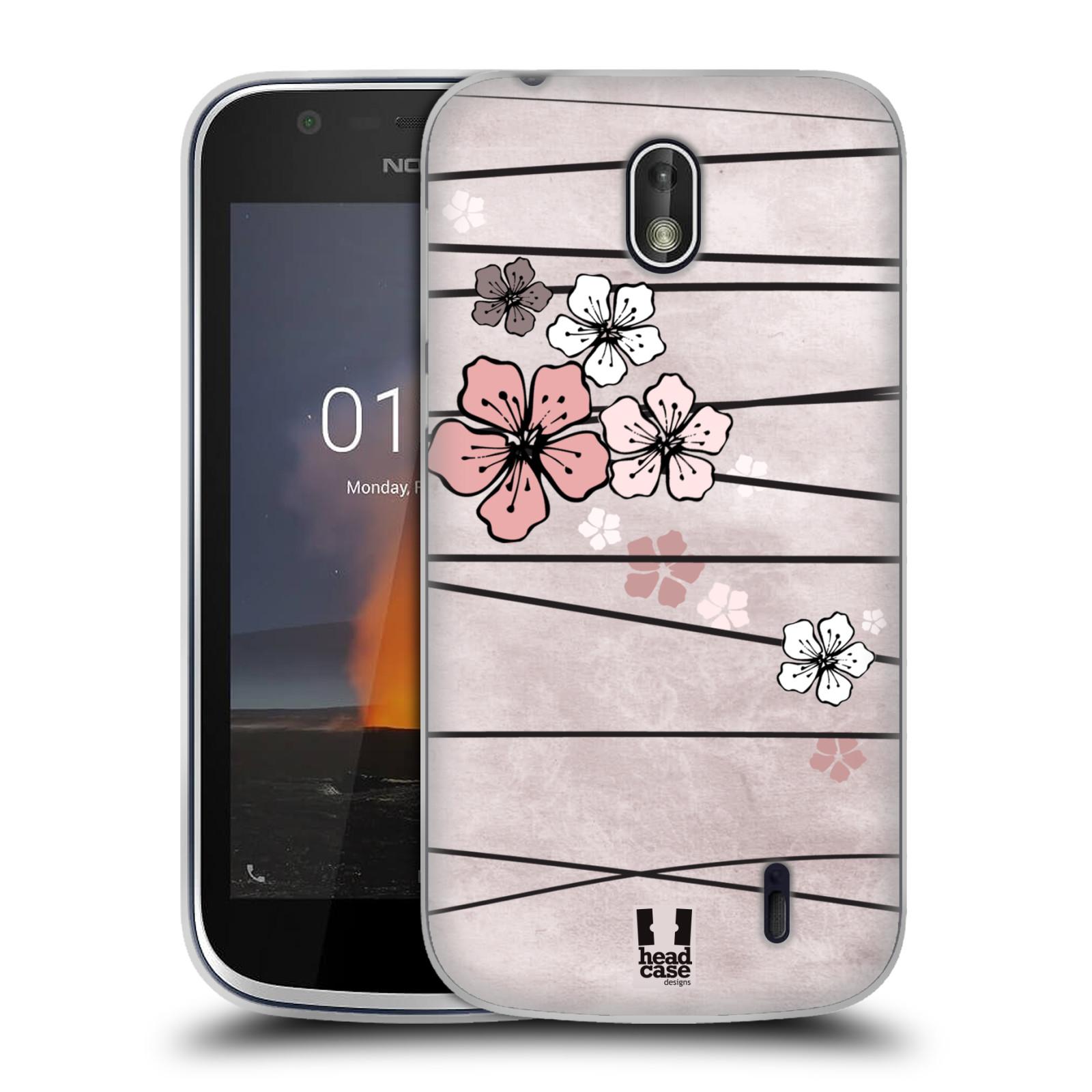 Silikonové pouzdro na mobil Nokia 1 - Head Case - BLOSSOMS PAPER