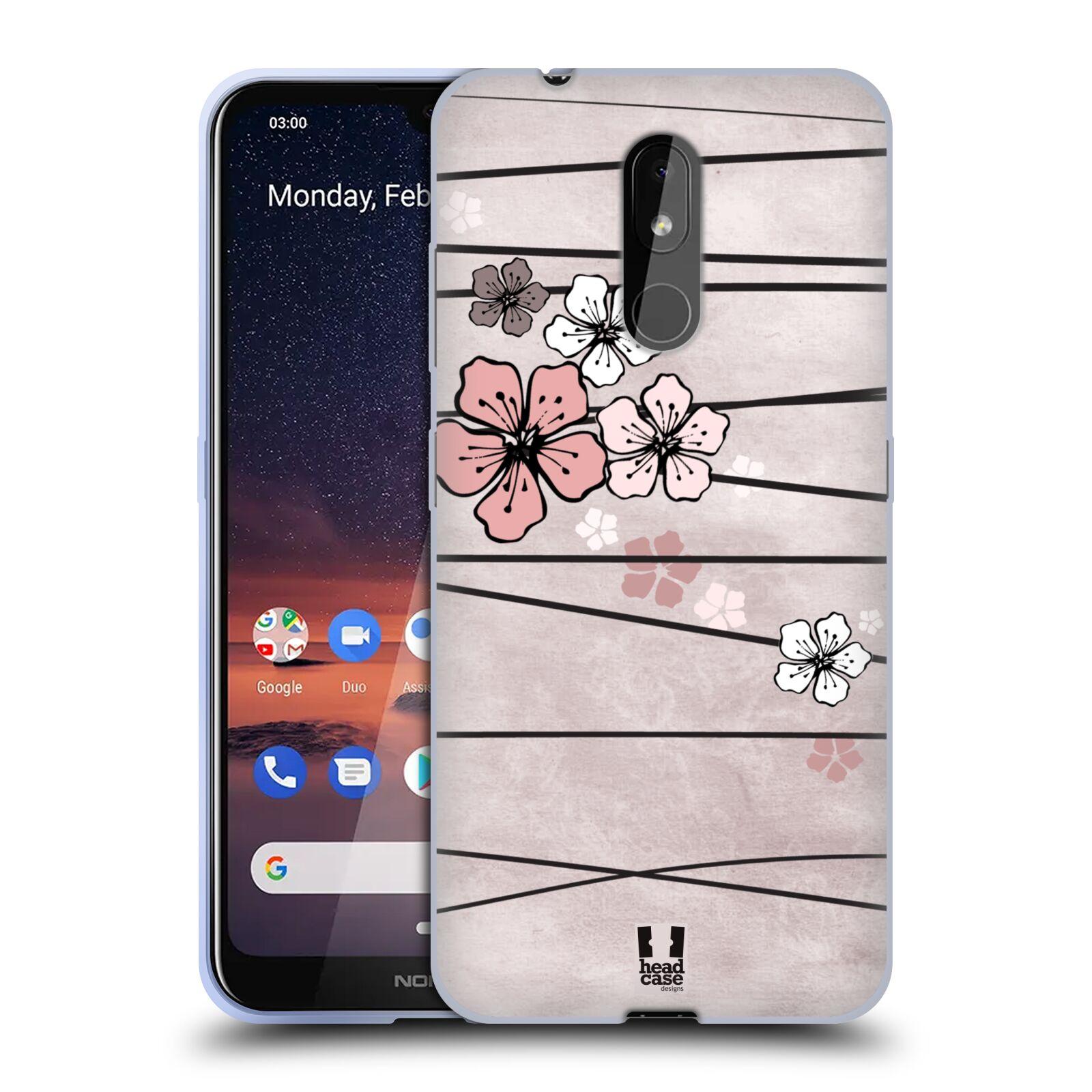 Silikonové pouzdro na mobil Nokia 3.2 - Head Case - BLOSSOMS PAPER