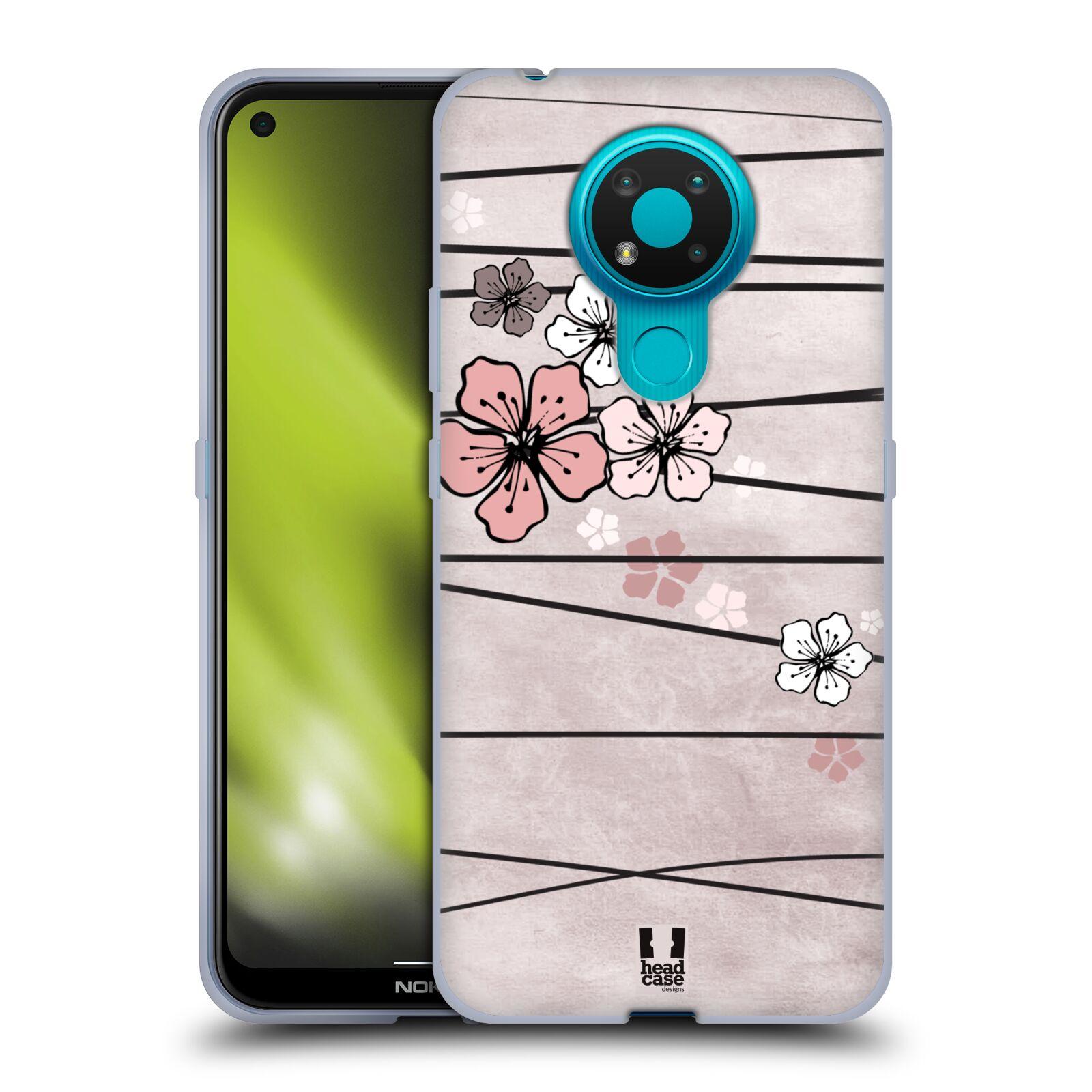 Silikonové pouzdro na mobil Nokia 3.4 - Head Case - BLOSSOMS PAPER