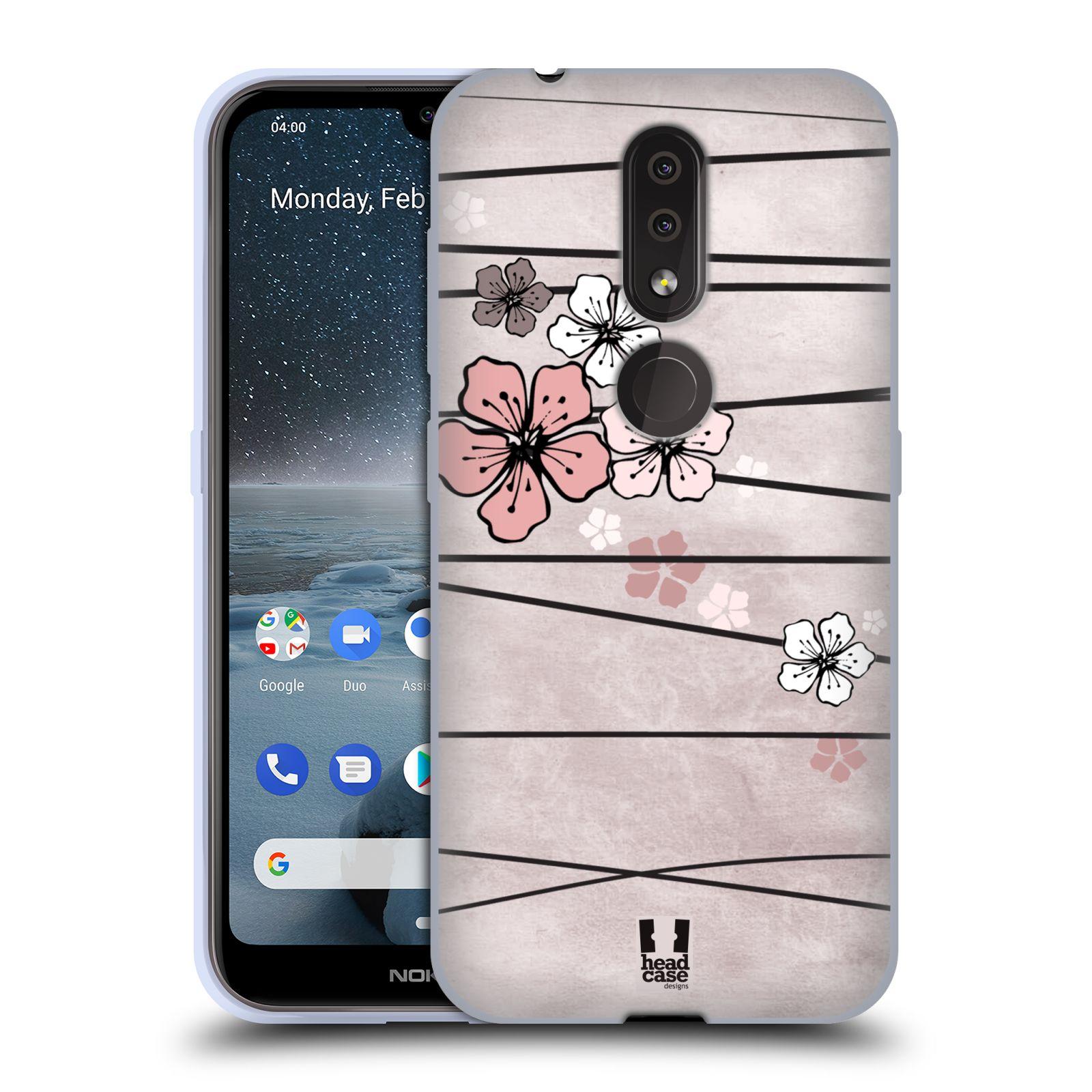 Silikonové pouzdro na mobil Nokia 4.2 - Head Case - BLOSSOMS PAPER