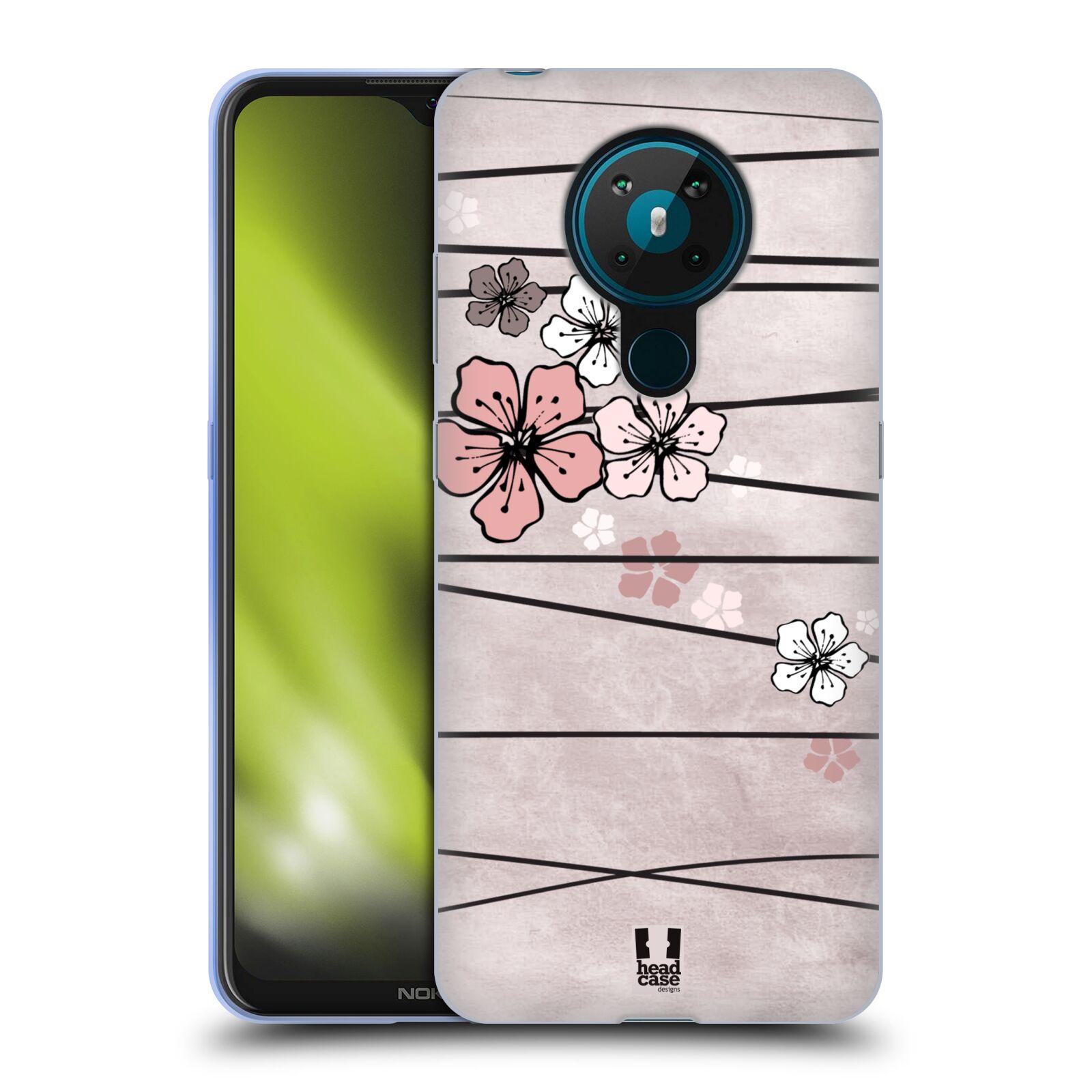 Silikonové pouzdro na mobil Nokia 5.3 - Head Case - BLOSSOMS PAPER